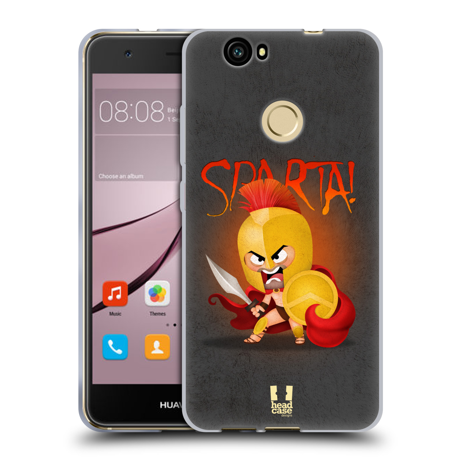 HEAD-CASE-DESIGNS-PICCOLI-SPARTANI-COVER-MORBIDA-IN-GEL-PER-HUAWEI-NOVA