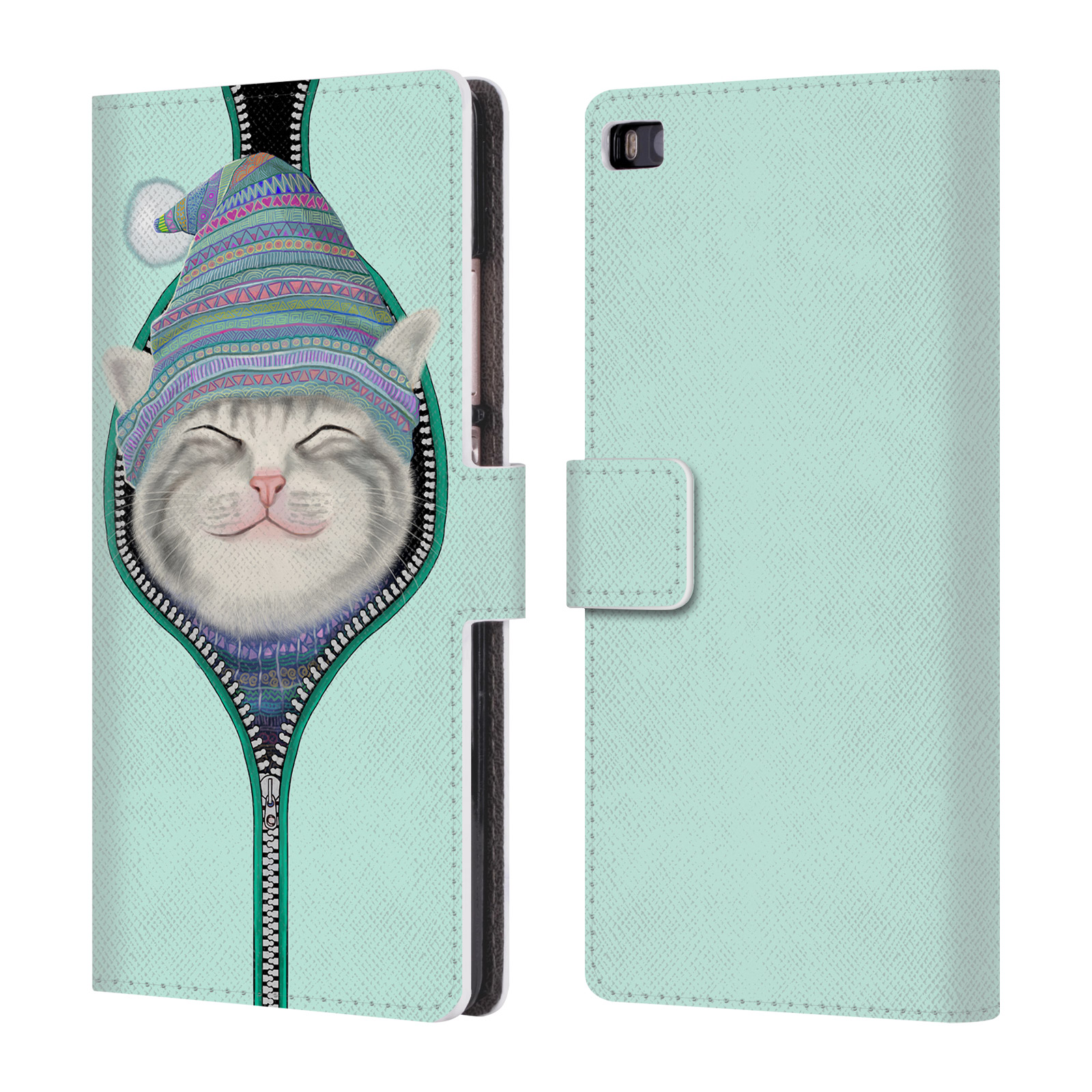 OFFICIAL-TUMMEOW-CATS-2-LEATHER-BOOK-WALLET-CASE-COVER-FOR-HUAWEI-PHONES