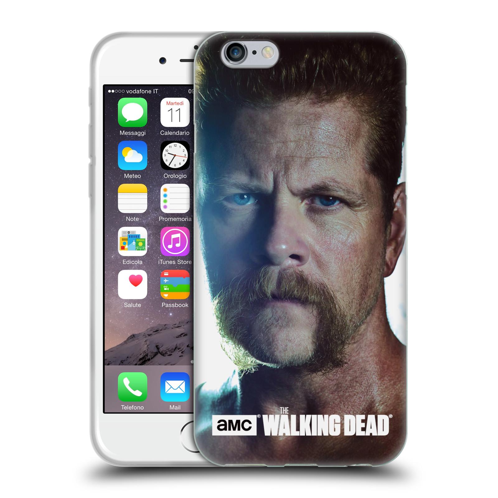 HEAD CASE silikonový obal na mobil Apple Iphone 6 / 6S originální potisk Walking Dead postavy Abraham