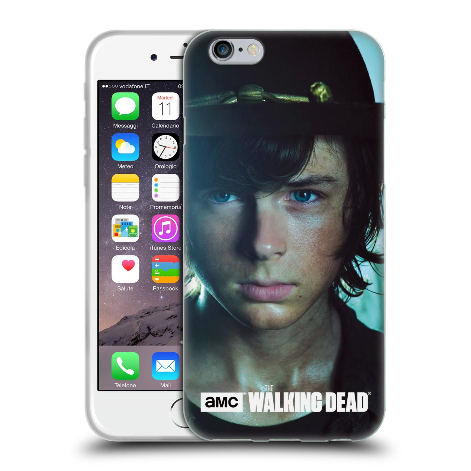 HEAD CASE silikonový obal na mobil Apple Iphone 6 / 6S originální potisk Walking Dead postavy Carl
