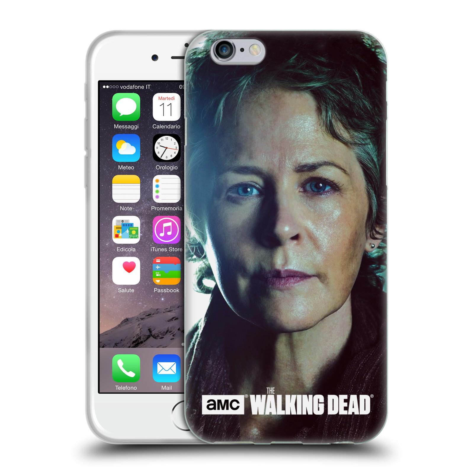 HEAD CASE silikonový obal na mobil Apple Iphone 6 / 6S originální potisk Walking Dead postavy CAROL