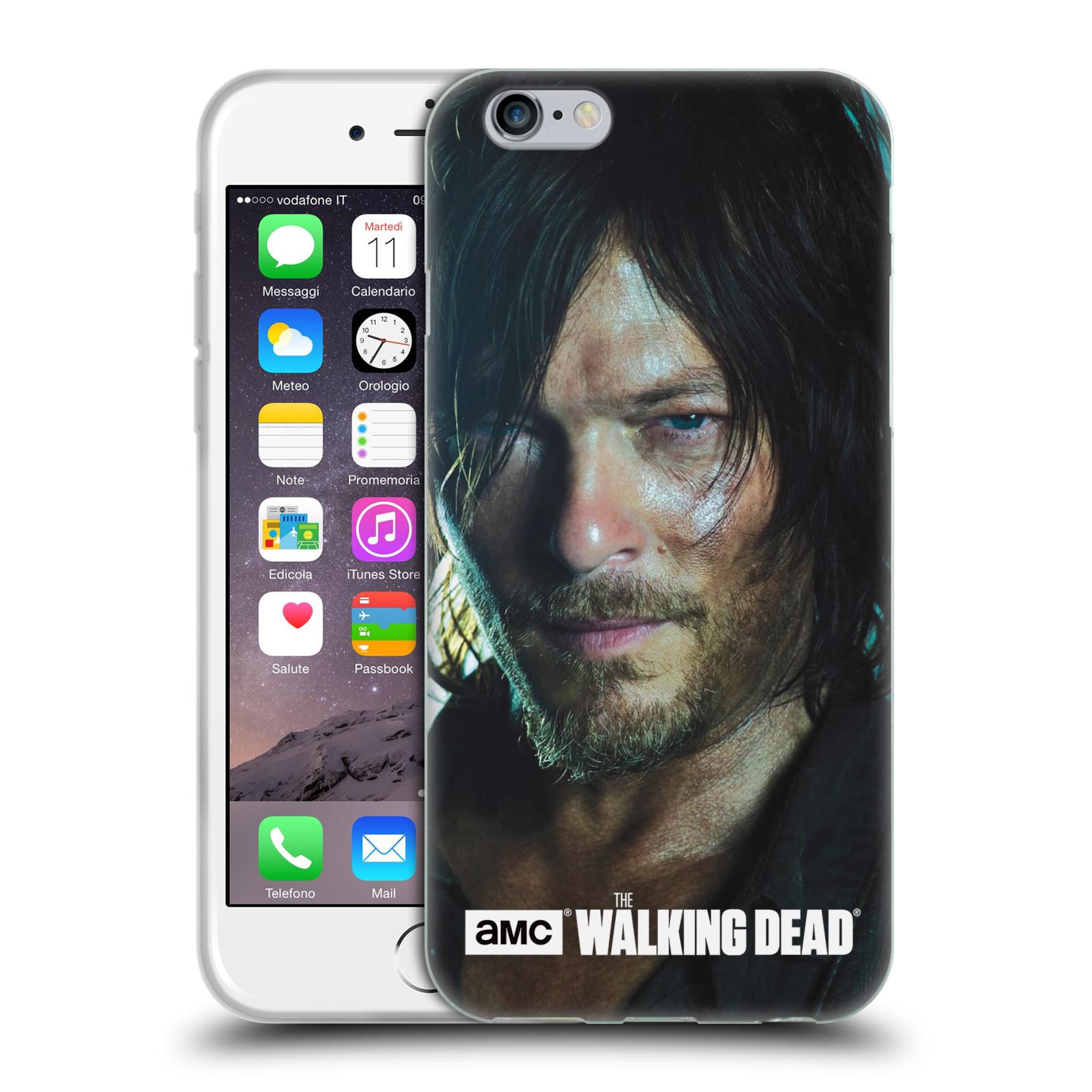 HEAD CASE silikonový obal na mobil Apple Iphone 6 / 6S originální potisk Walking Dead postavy Daryl