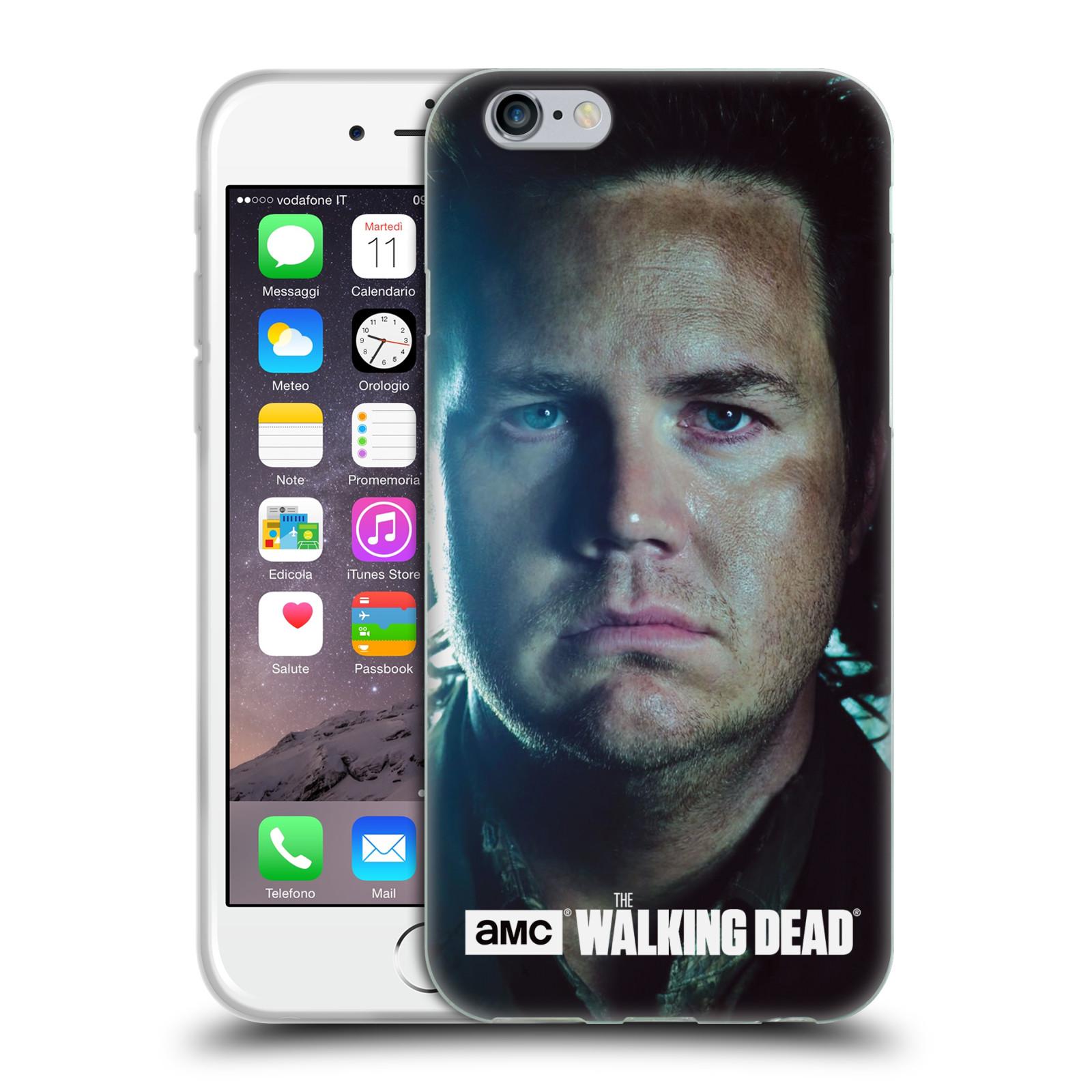 HEAD CASE silikonový obal na mobil Apple Iphone 6 / 6S originální potisk Walking Dead postavy Eugene