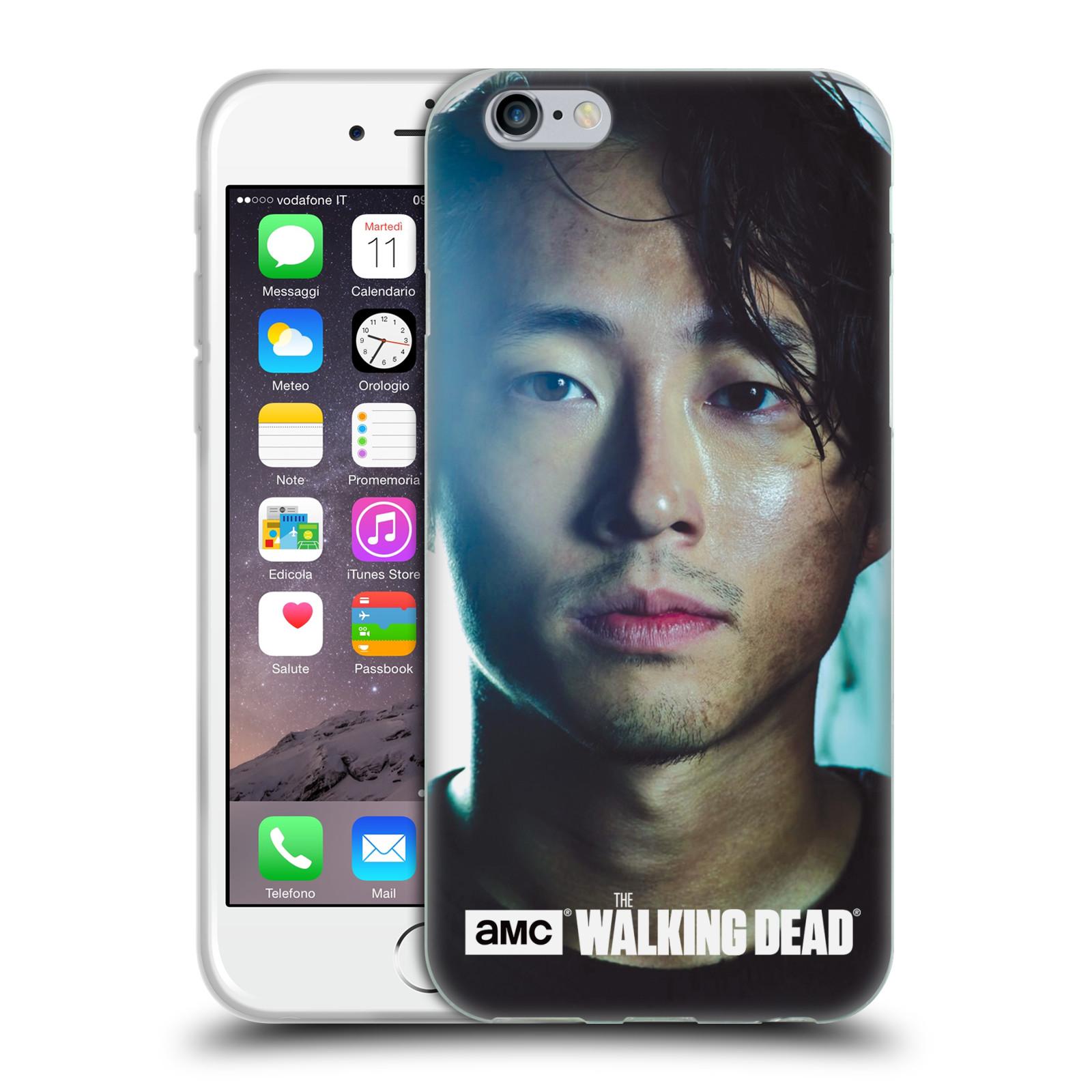 HEAD CASE silikonový obal na mobil Apple Iphone 6 / 6S originální potisk Walking Dead postavy Glenn