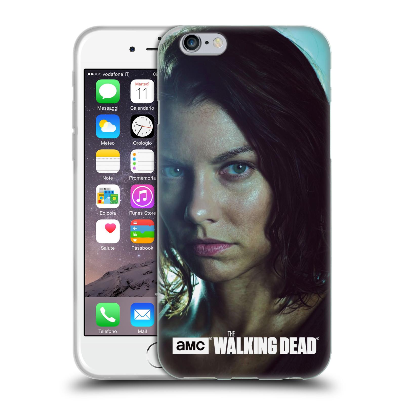 HEAD CASE silikonový obal na mobil Apple Iphone 6 / 6S originální potisk Walking Dead postavy Maggie
