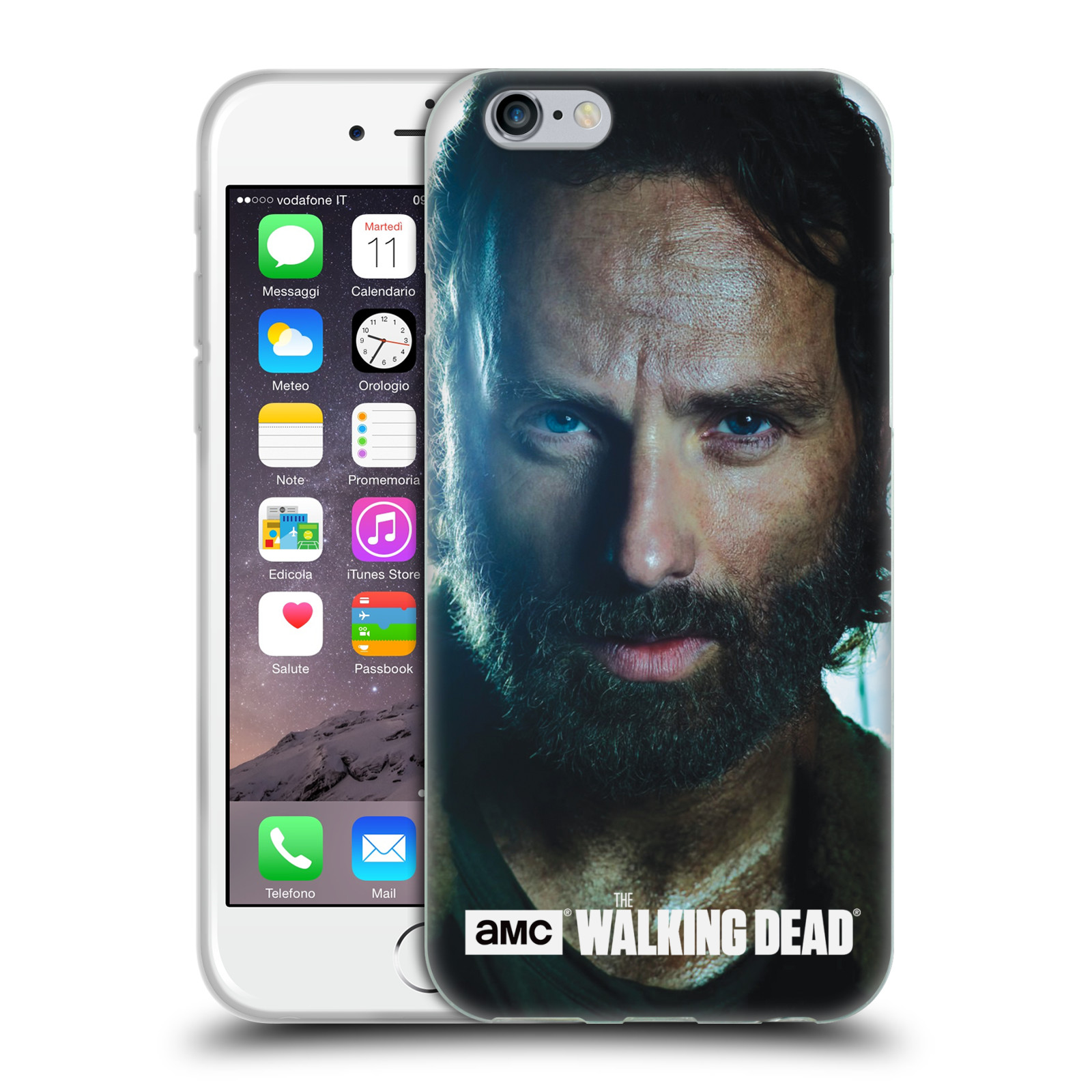 HEAD CASE silikonový obal na mobil Apple Iphone 6 / 6S originální potisk Walking Dead postavy Rick