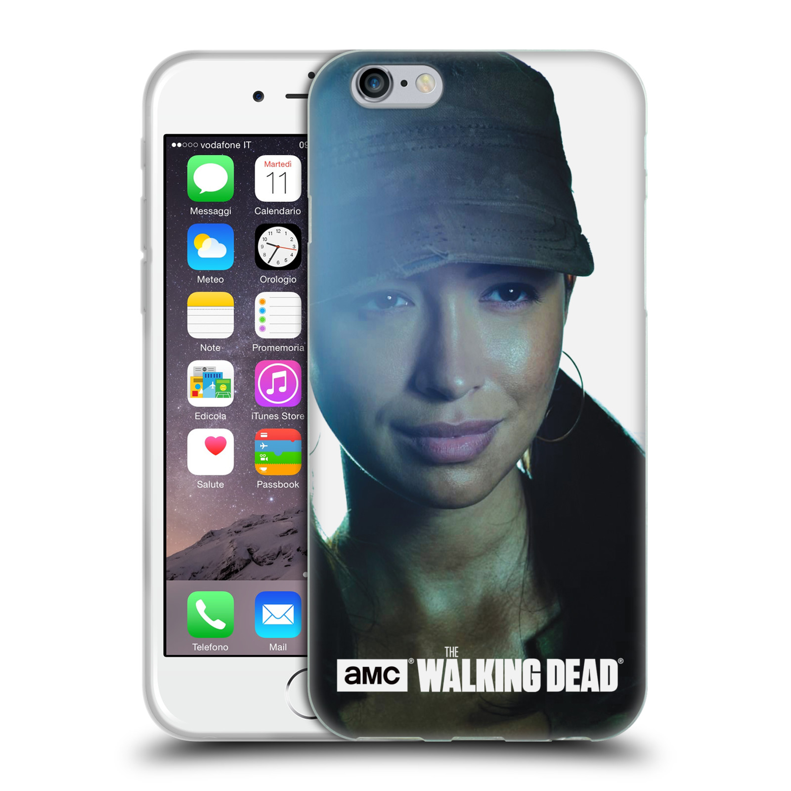 HEAD CASE silikonový obal na mobil Apple Iphone 6 / 6S originální potisk Walking Dead postavy Rosita