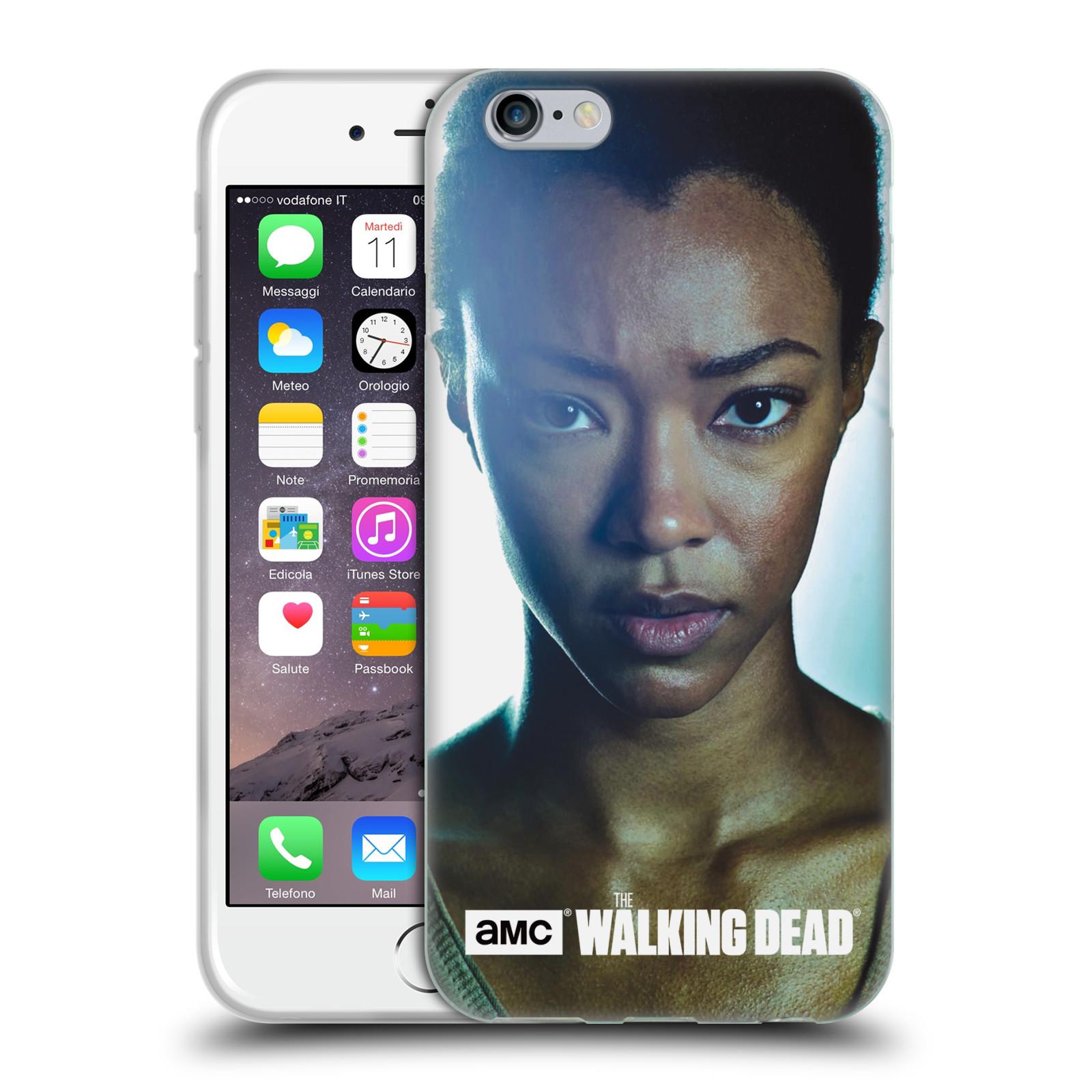HEAD CASE silikonový obal na mobil Apple Iphone 6 / 6S originální potisk Walking Dead postavy Sasha
