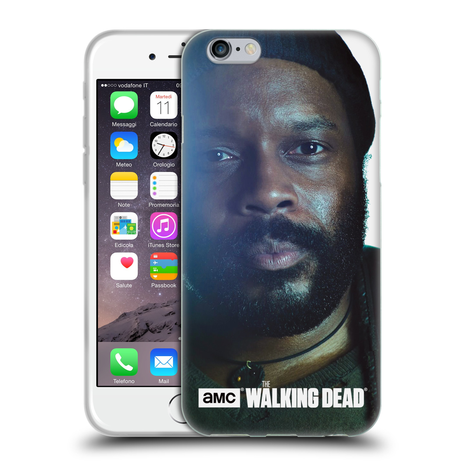HEAD CASE silikonový obal na mobil Apple Iphone 6 / 6S originální potisk Walking Dead postavy Tyreese