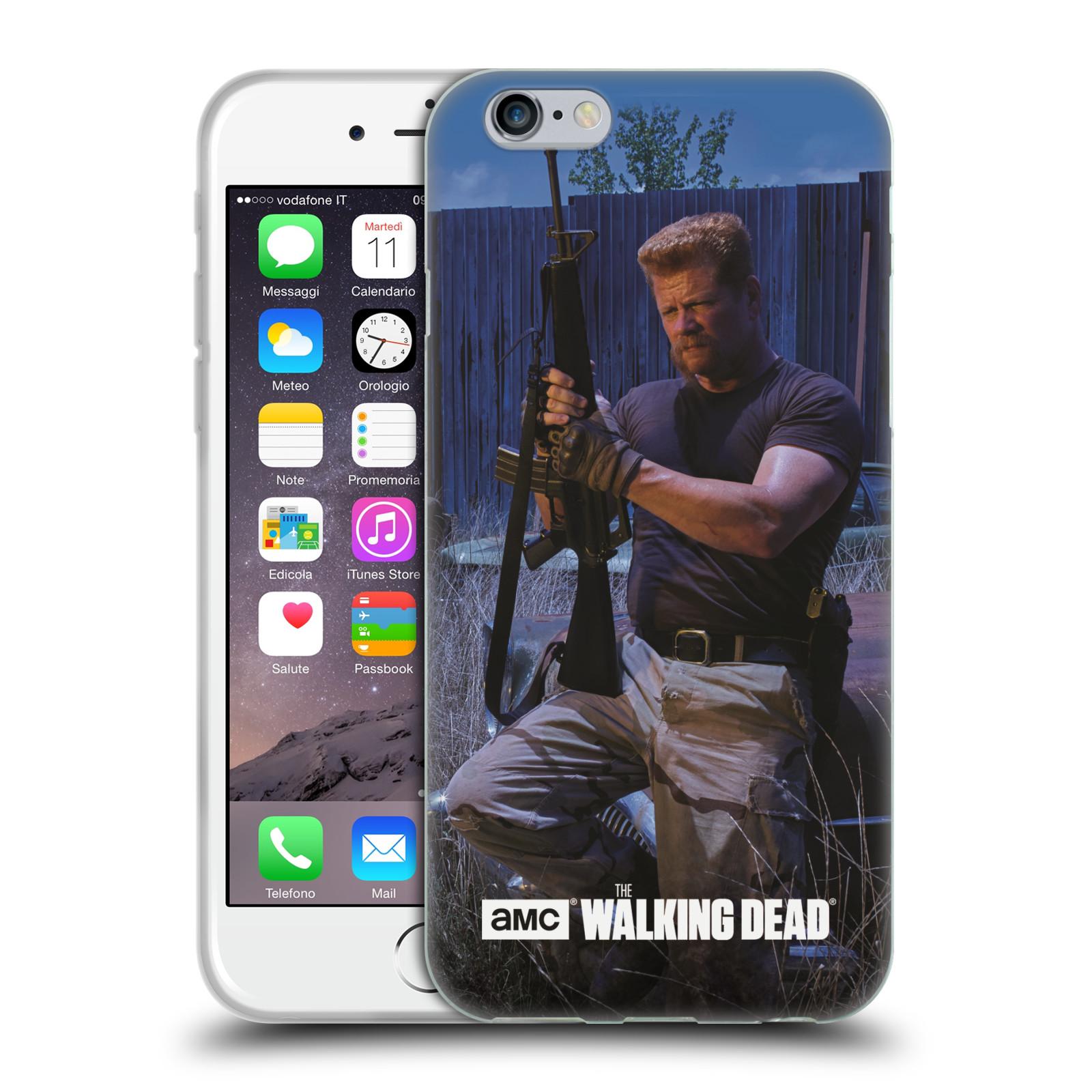 HEAD CASE silikonový obal na mobil Apple Iphone 6 / 6S originální potisk Walking Dead postavy v akci Abraham
