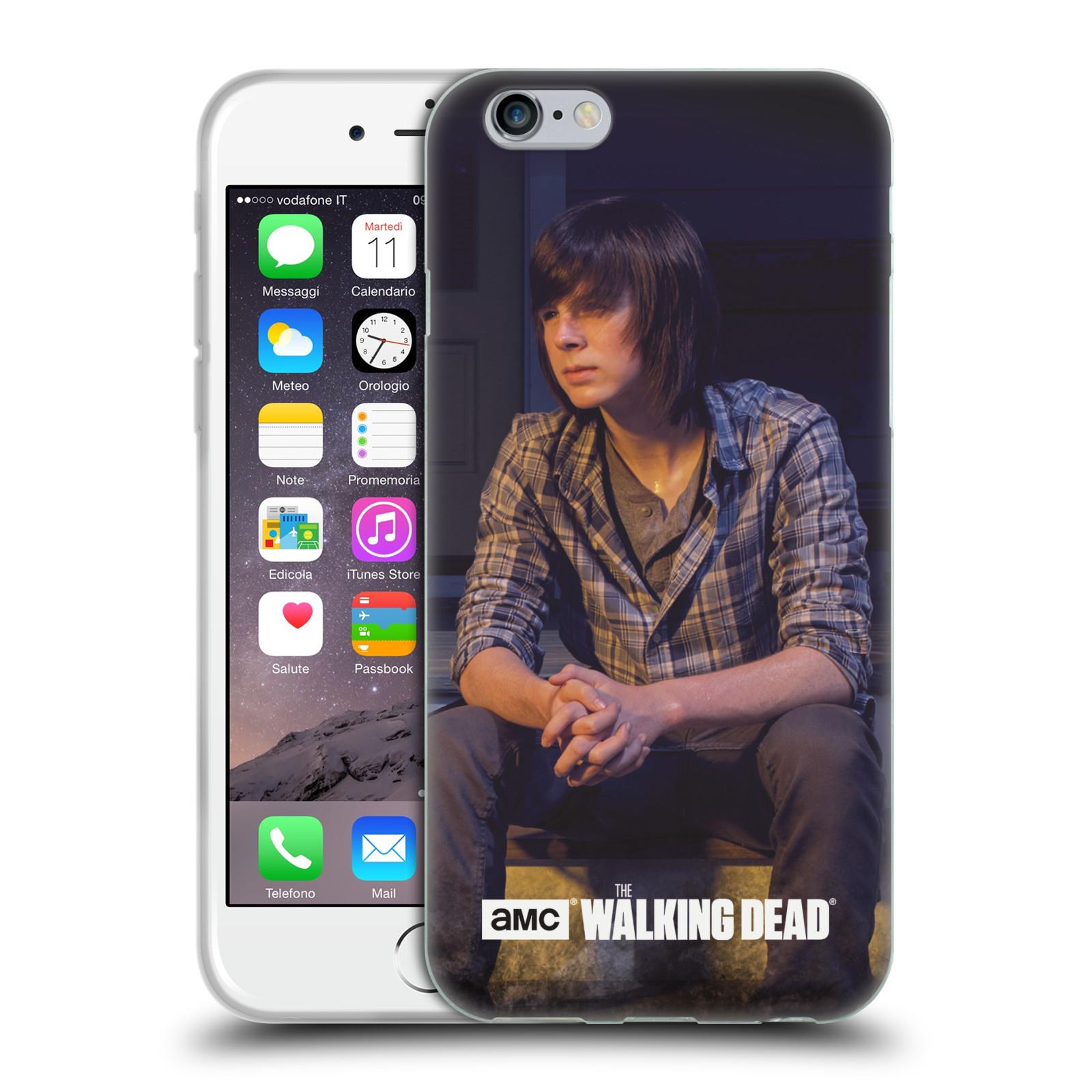 HEAD CASE silikonový obal na mobil Apple Iphone 6 / 6S originální potisk Walking Dead postavy v akci Carl