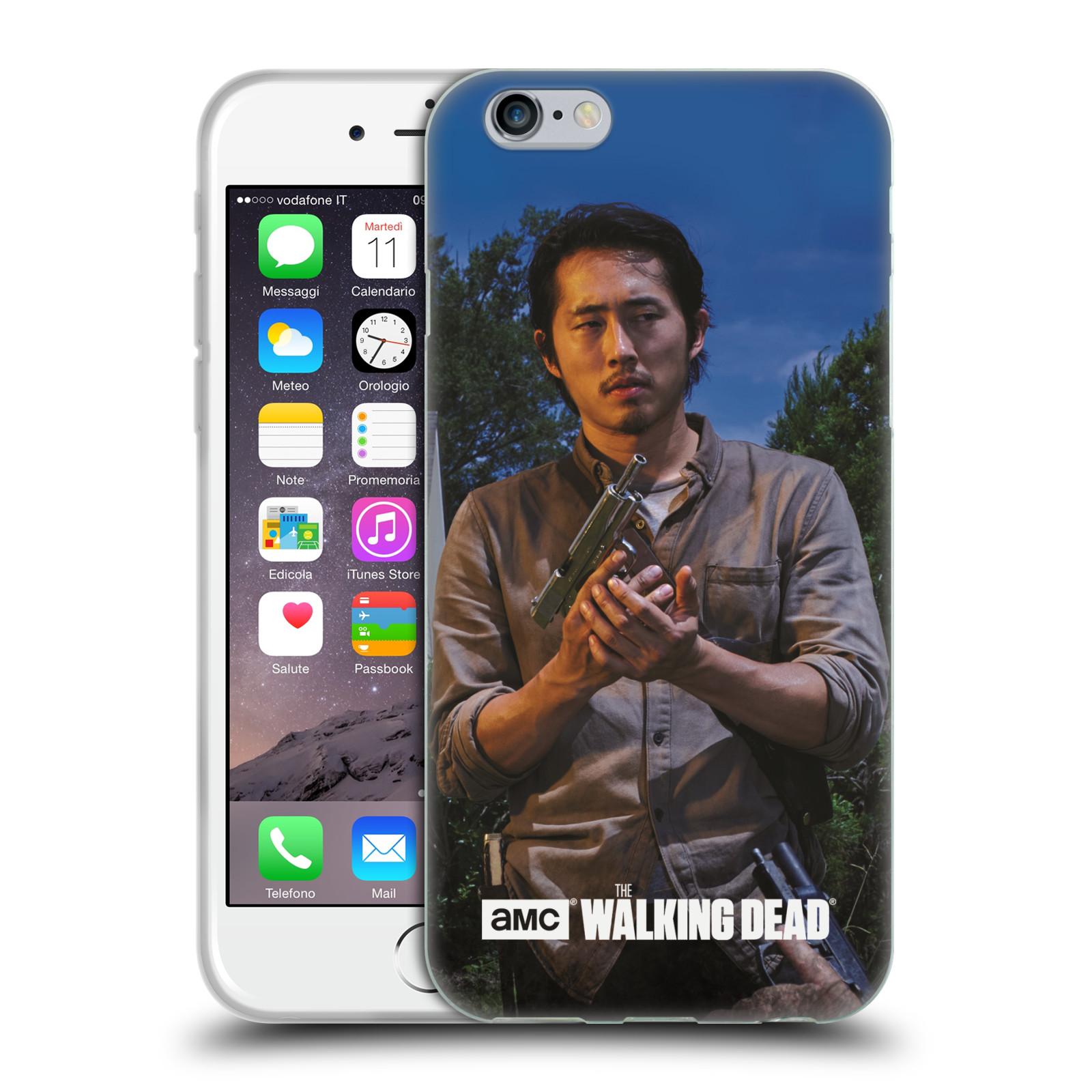 HEAD CASE silikonový obal na mobil Apple Iphone 6 / 6S originální potisk Walking Dead postavy v akci Glenn