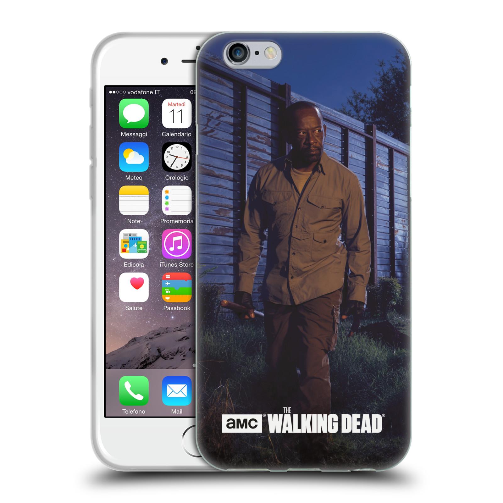 HEAD CASE silikonový obal na mobil Apple Iphone 6 / 6S originální potisk Walking Dead postavy v akci Morgan