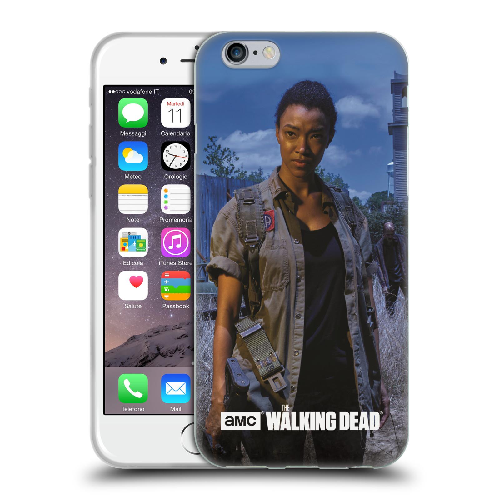 HEAD CASE silikonový obal na mobil Apple Iphone 6 / 6S originální potisk Walking Dead postavy v akci Sasha