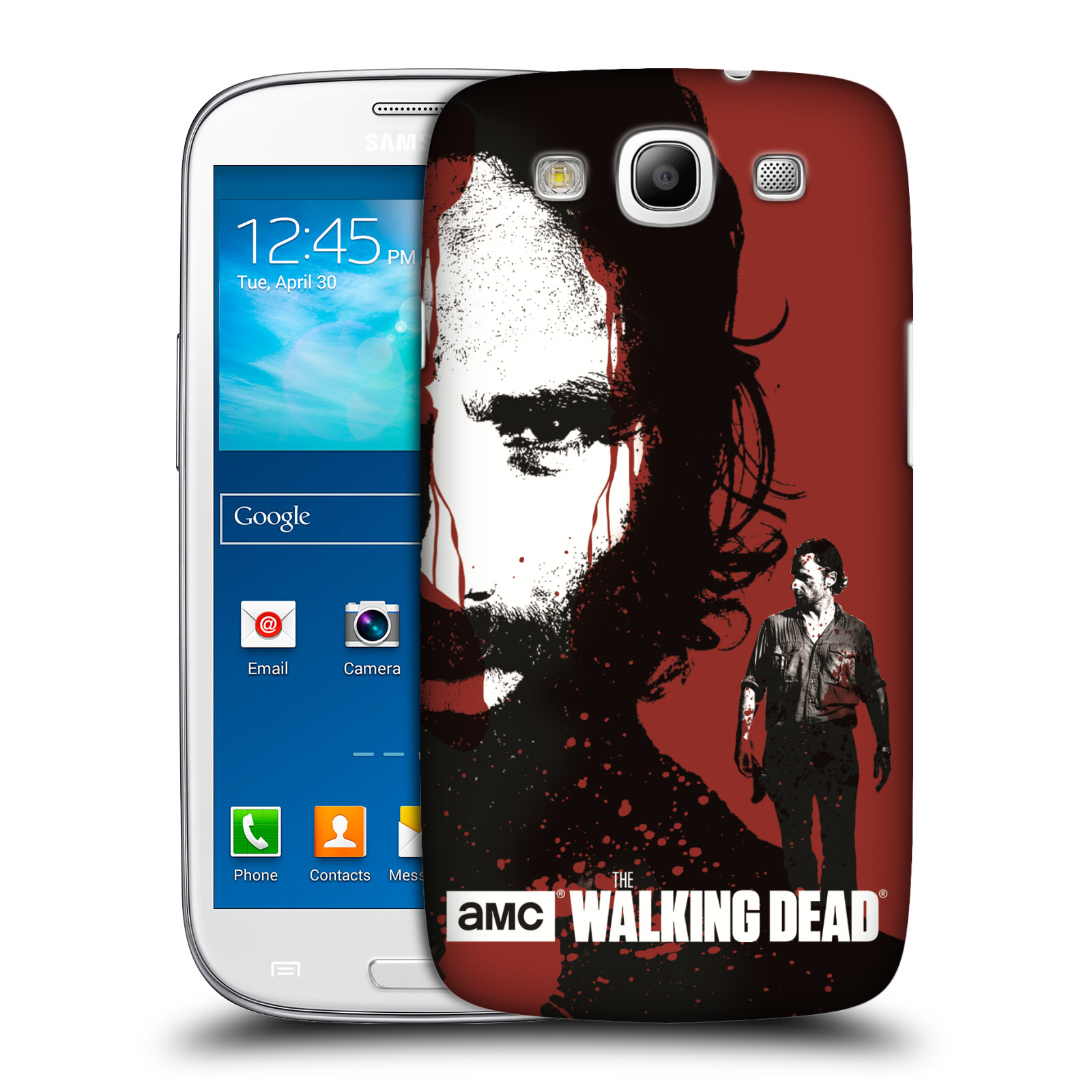 Pouzdro na mobil Samsung Galaxy S3 - HEAD CASE - Walking Dead - Rick kresba