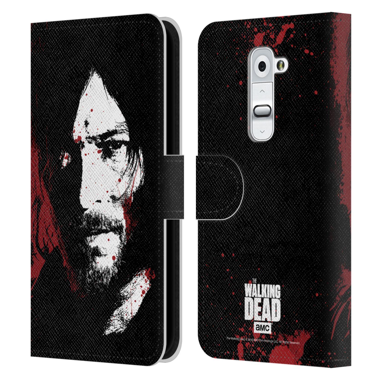 Pouzdro na mobil LG G2 - Head Case - Walking Dead krvavá tvář Daryl