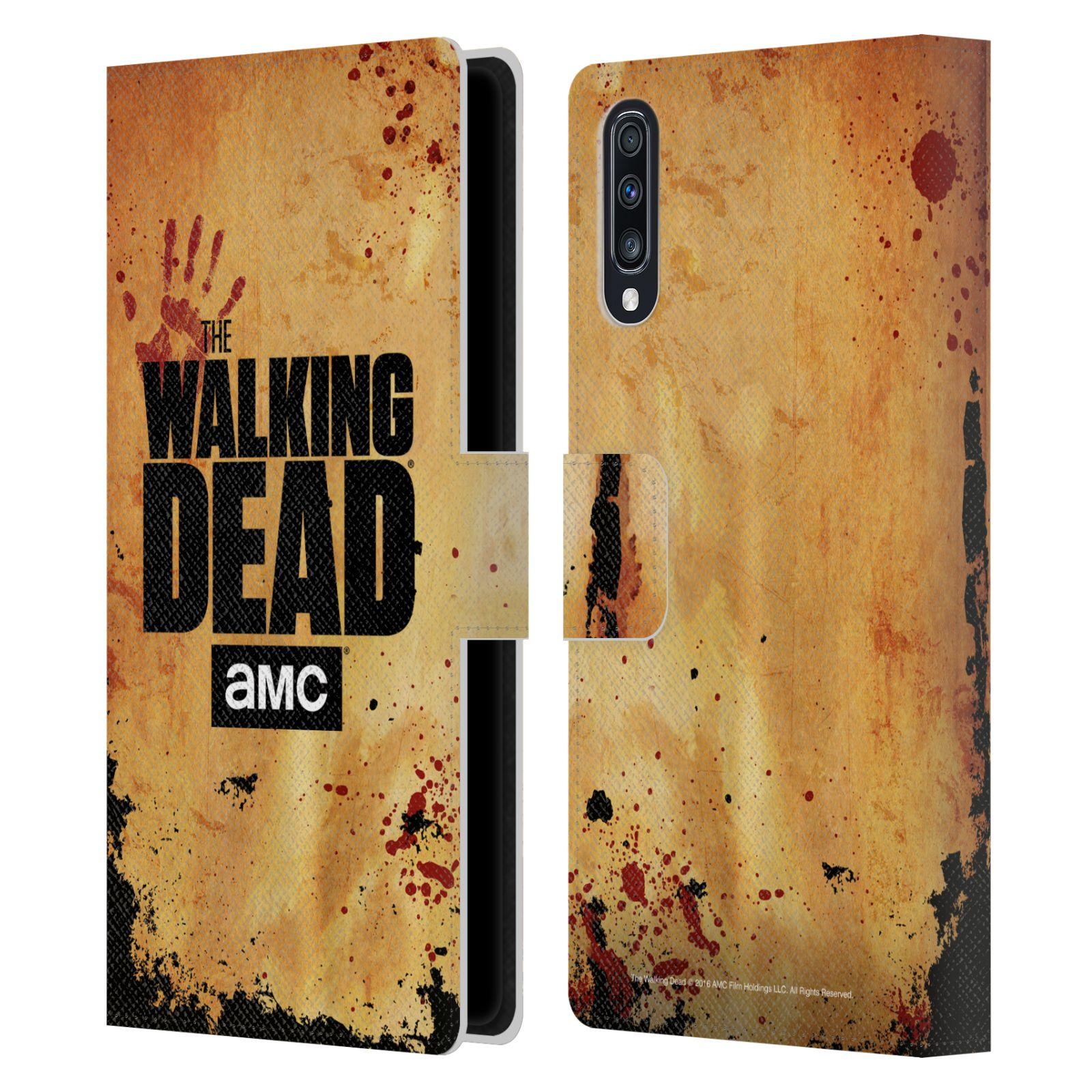 Pouzdro na mobil Samsung Galaxy A70 - Head Case - Walking Dead logo krvavá ruka