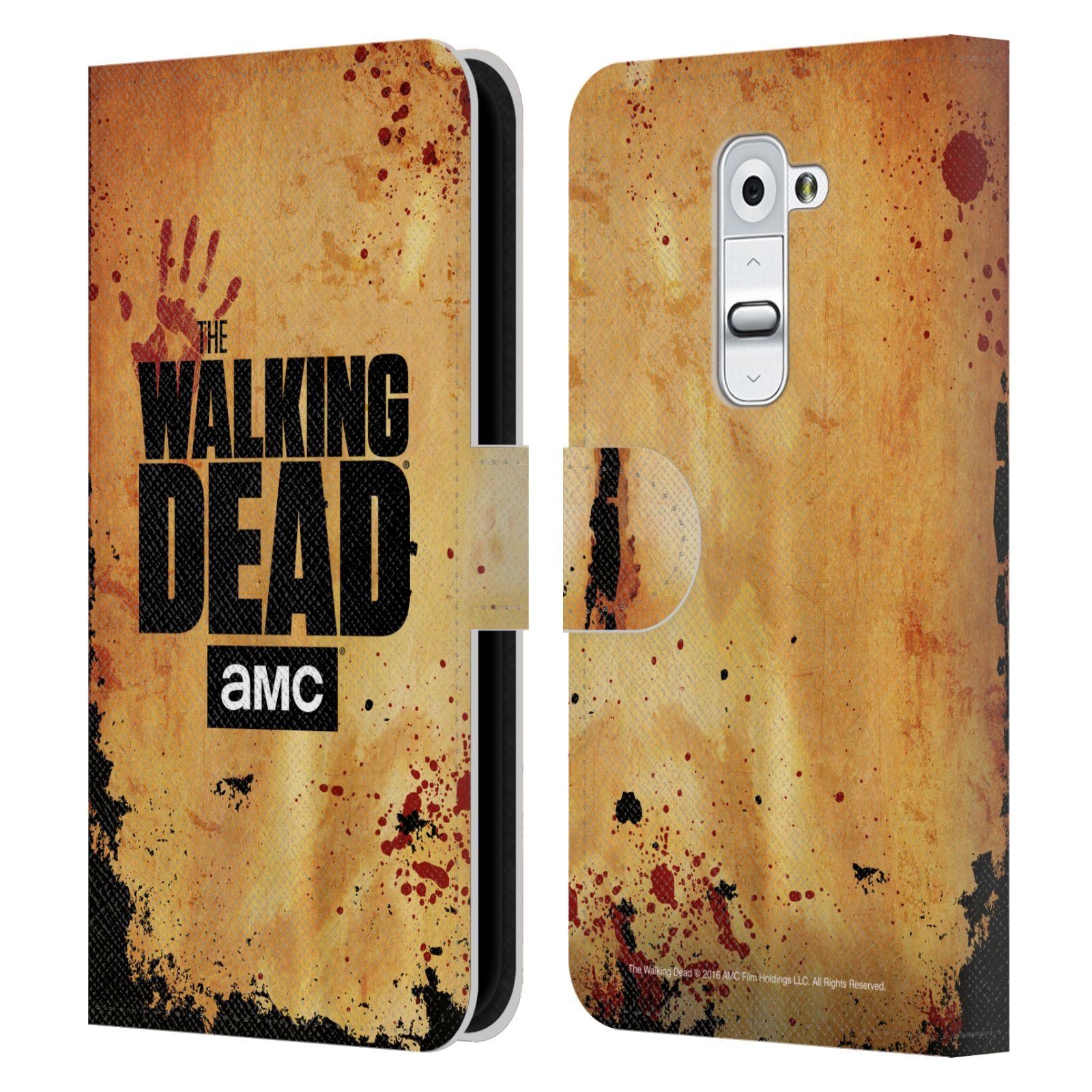 Pouzdro na mobil LG G2 - Head Case - Walking Dead logo krvavá ruka