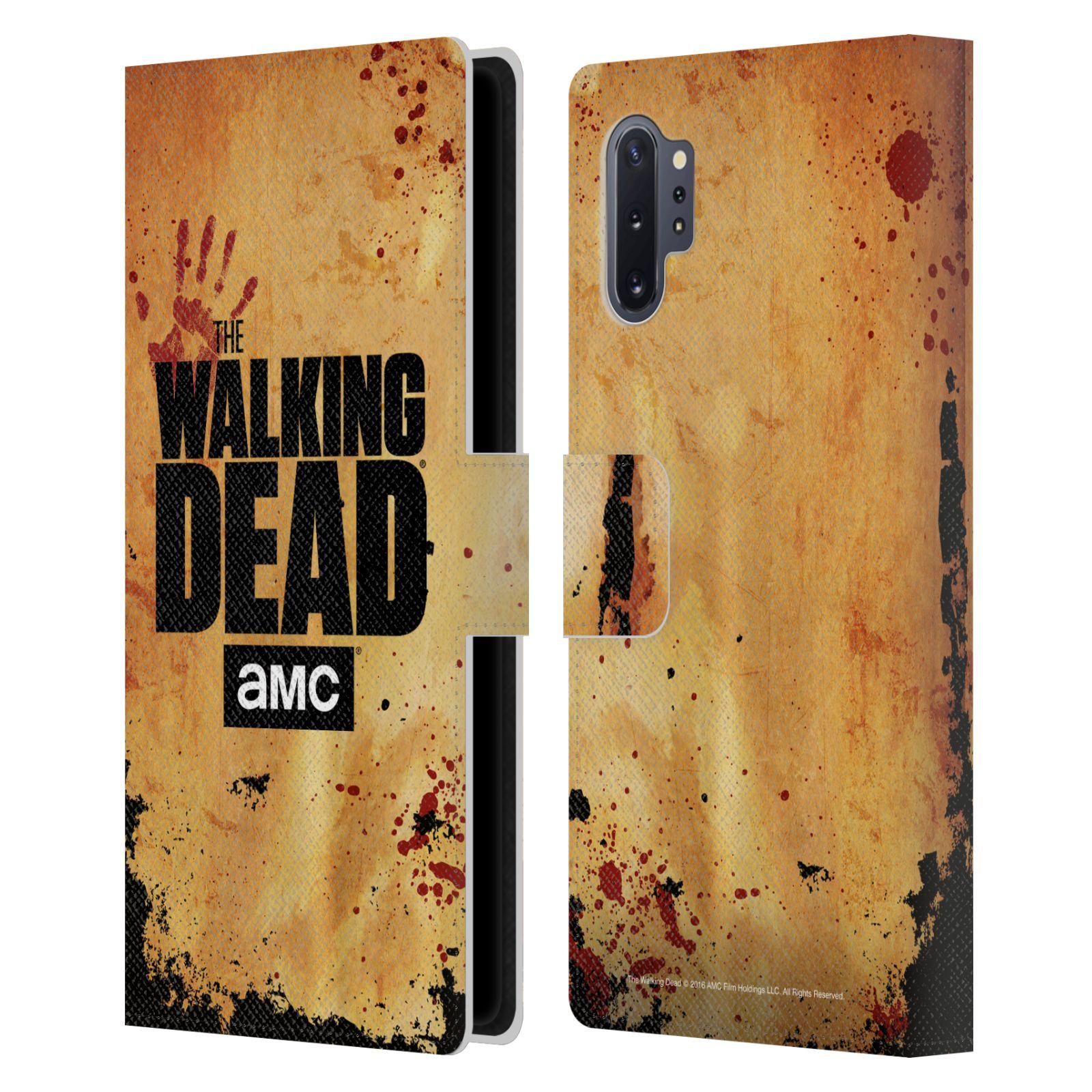 Pouzdro na mobil Samsung Galaxy NOTE 10+ - Head Case - Walking Dead logo krvavá ruka