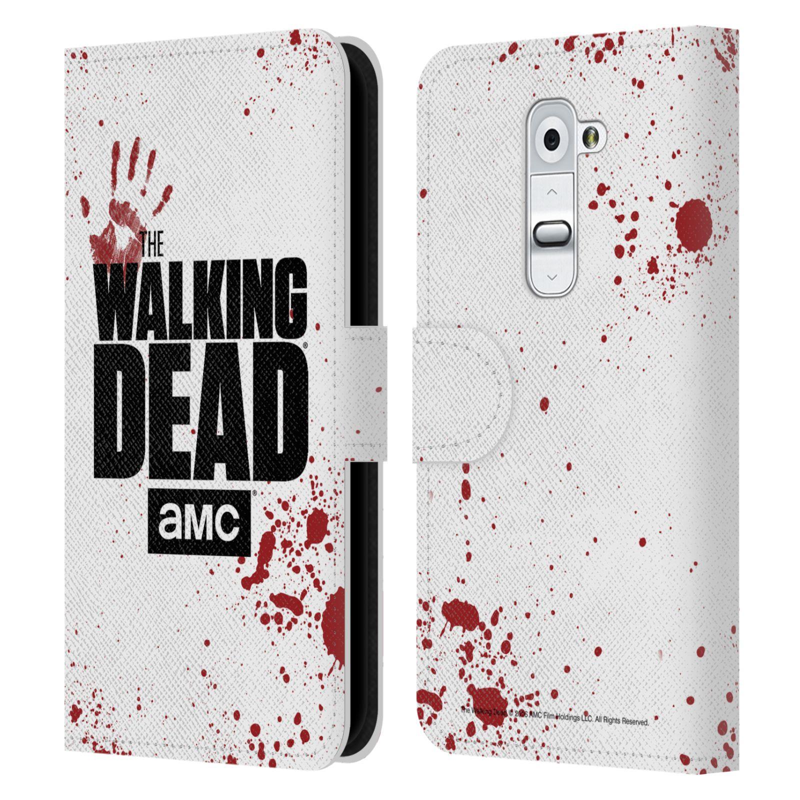 Pouzdro na mobil LG G2 - Head Case - Walking Dead logo bílá