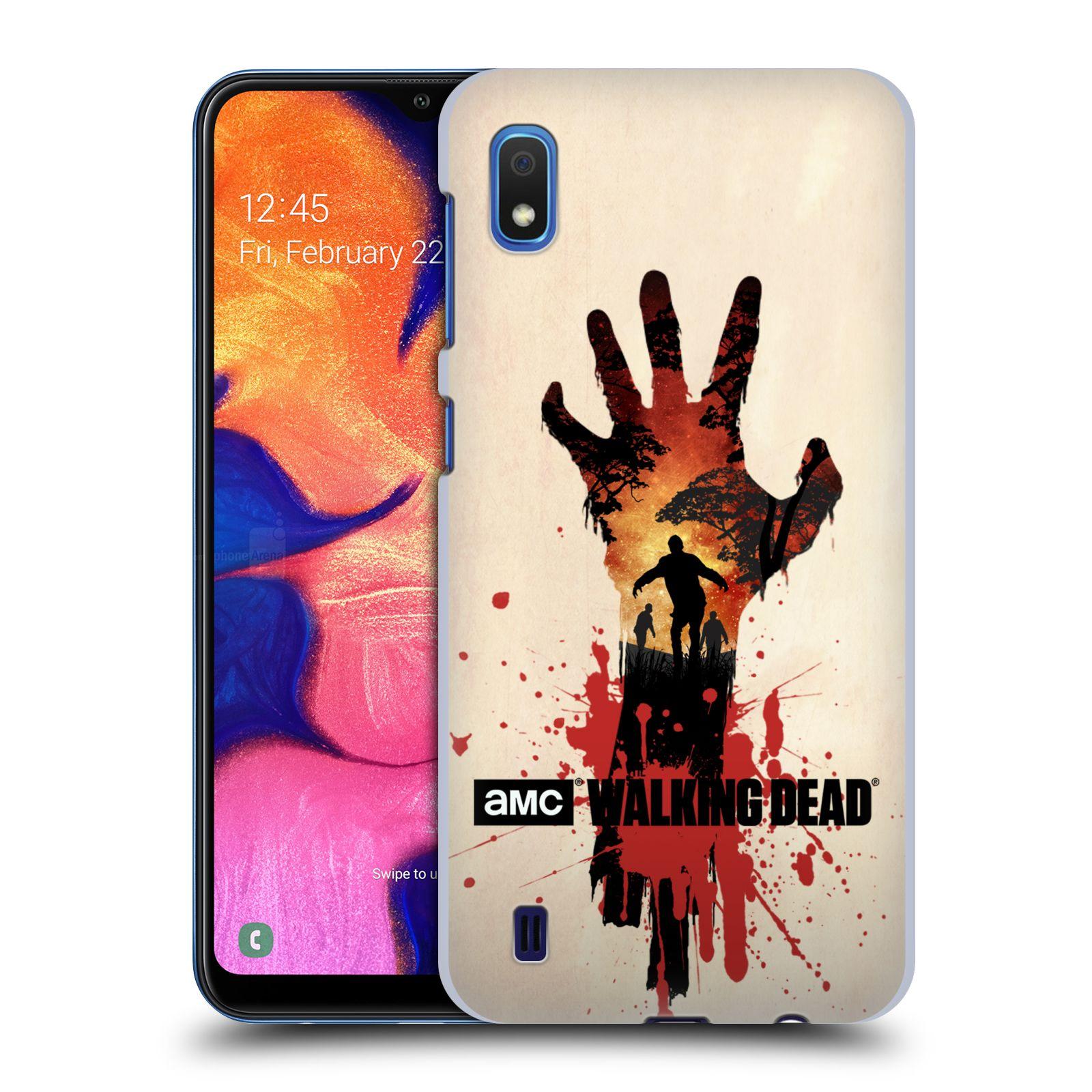 Pouzdro na mobil Samsung Galaxy A10 - HEAD CASE - Živí Mrtví silueta ruky
