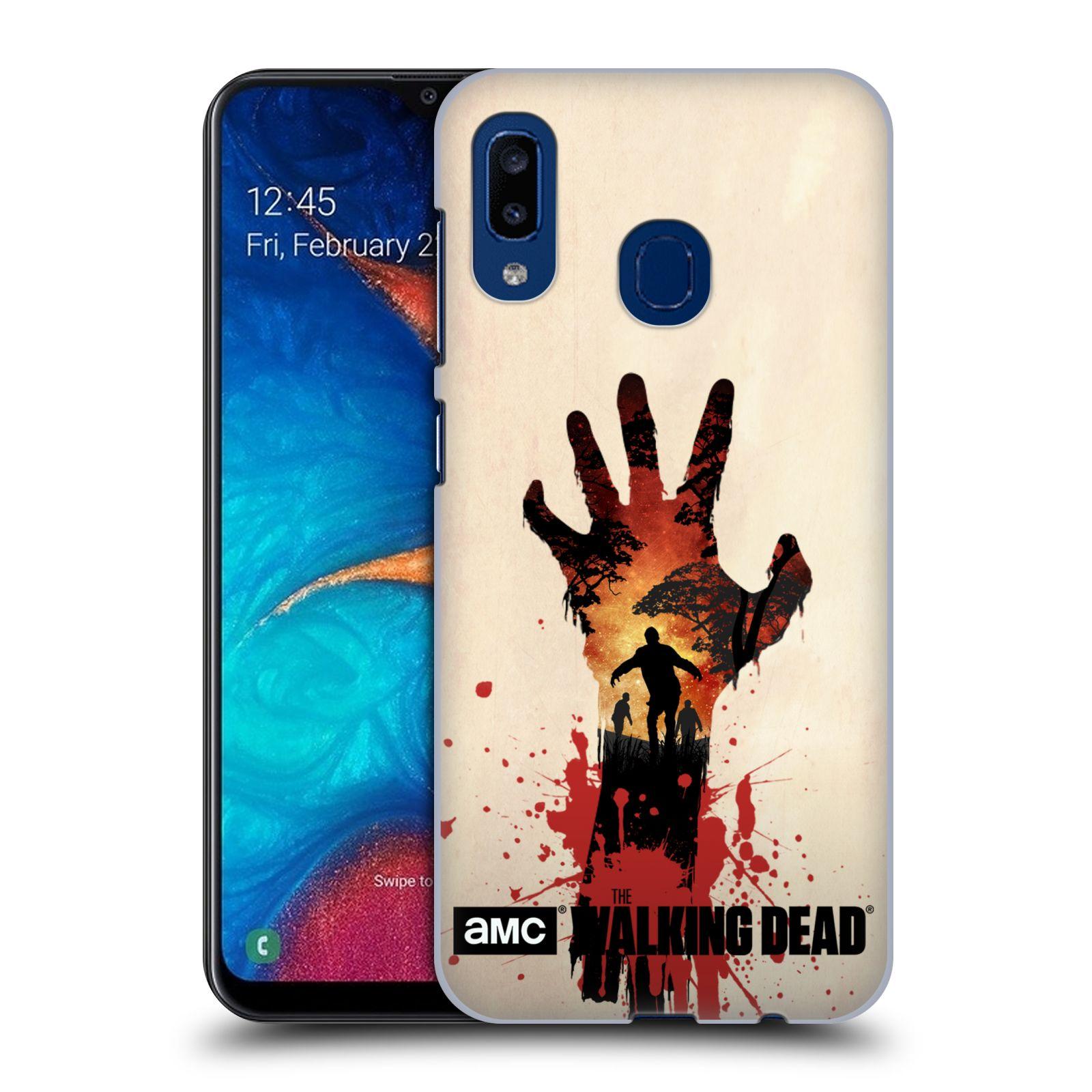 Pouzdro na mobil Samsung Galaxy A20 - HEAD CASE - Živí Mrtví silueta ruky