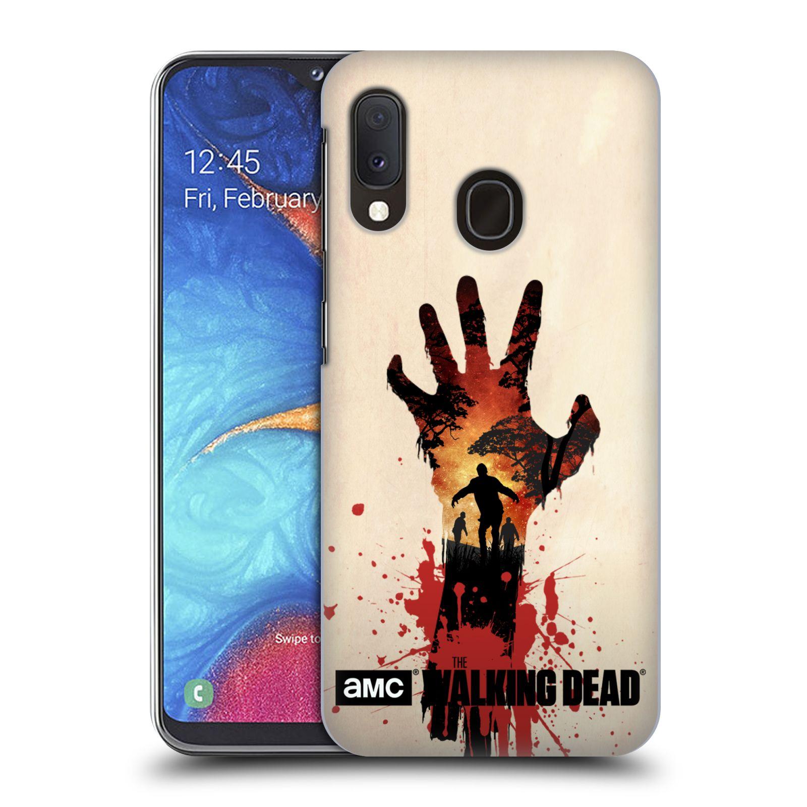 Pouzdro na mobil Samsung Galaxy A20e - HEAD CASE - Živí Mrtví silueta ruky