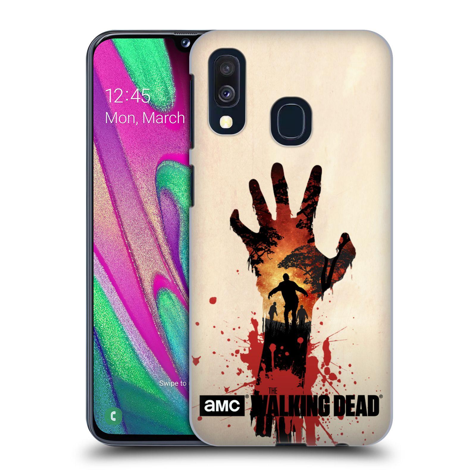 Pouzdro na mobil Samsung Galaxy A40 - HEAD CASE - Živí Mrtví silueta ruky