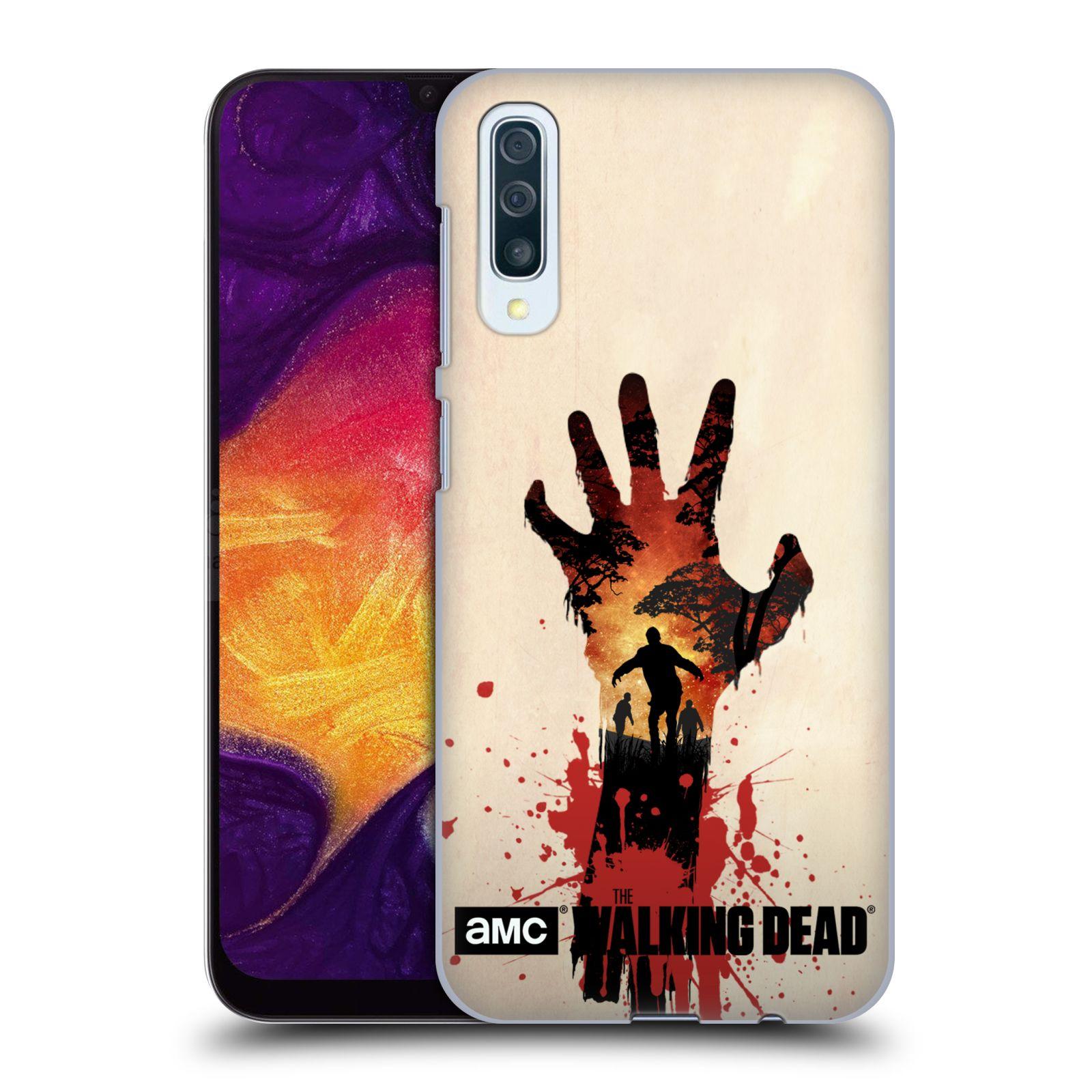 Pouzdro na mobil Samsung Galaxy A50 - HEAD CASE - Živí Mrtví silueta ruky
