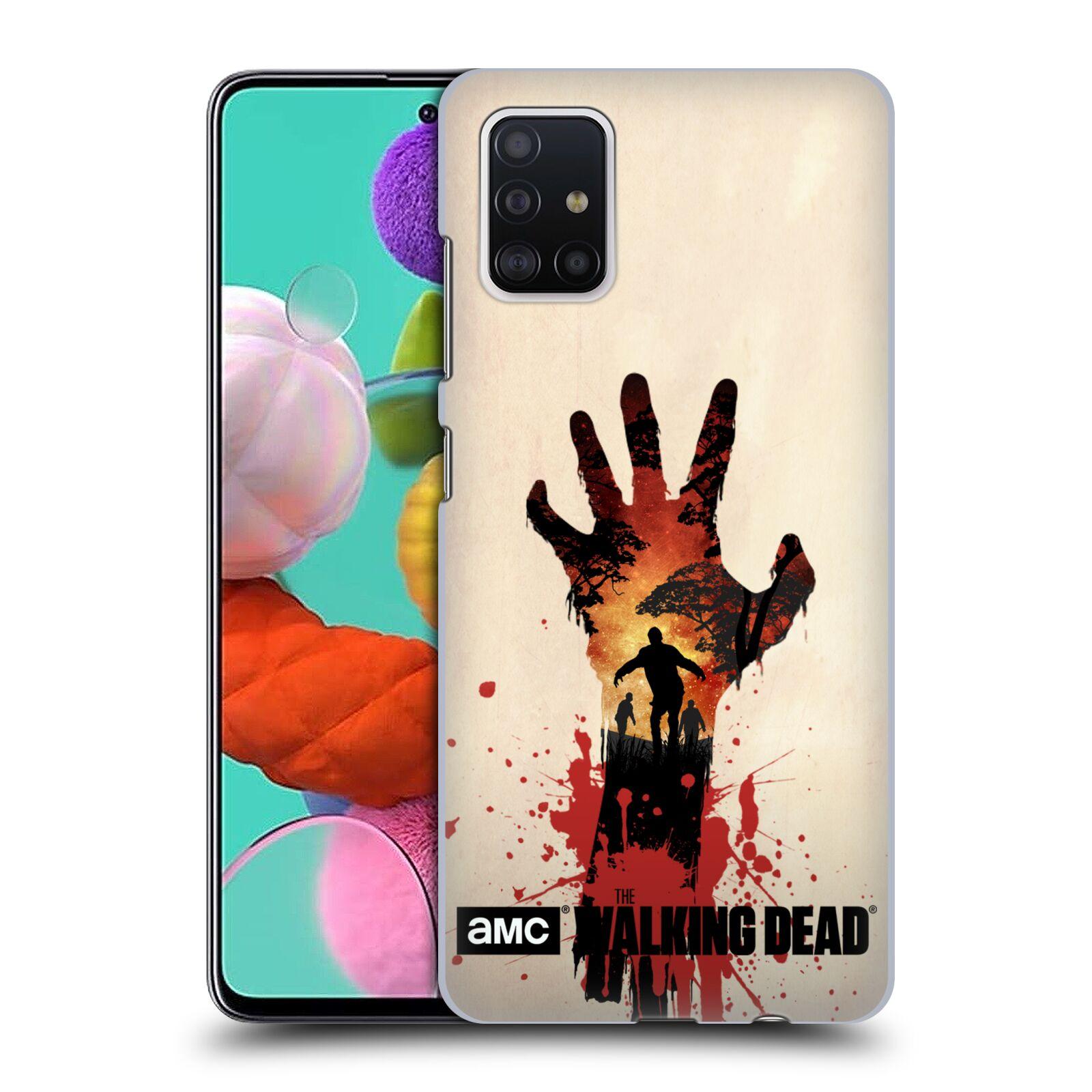 Pouzdro na mobil Samsung Galaxy A51 - HEAD CASE - Živí Mrtví silueta ruky