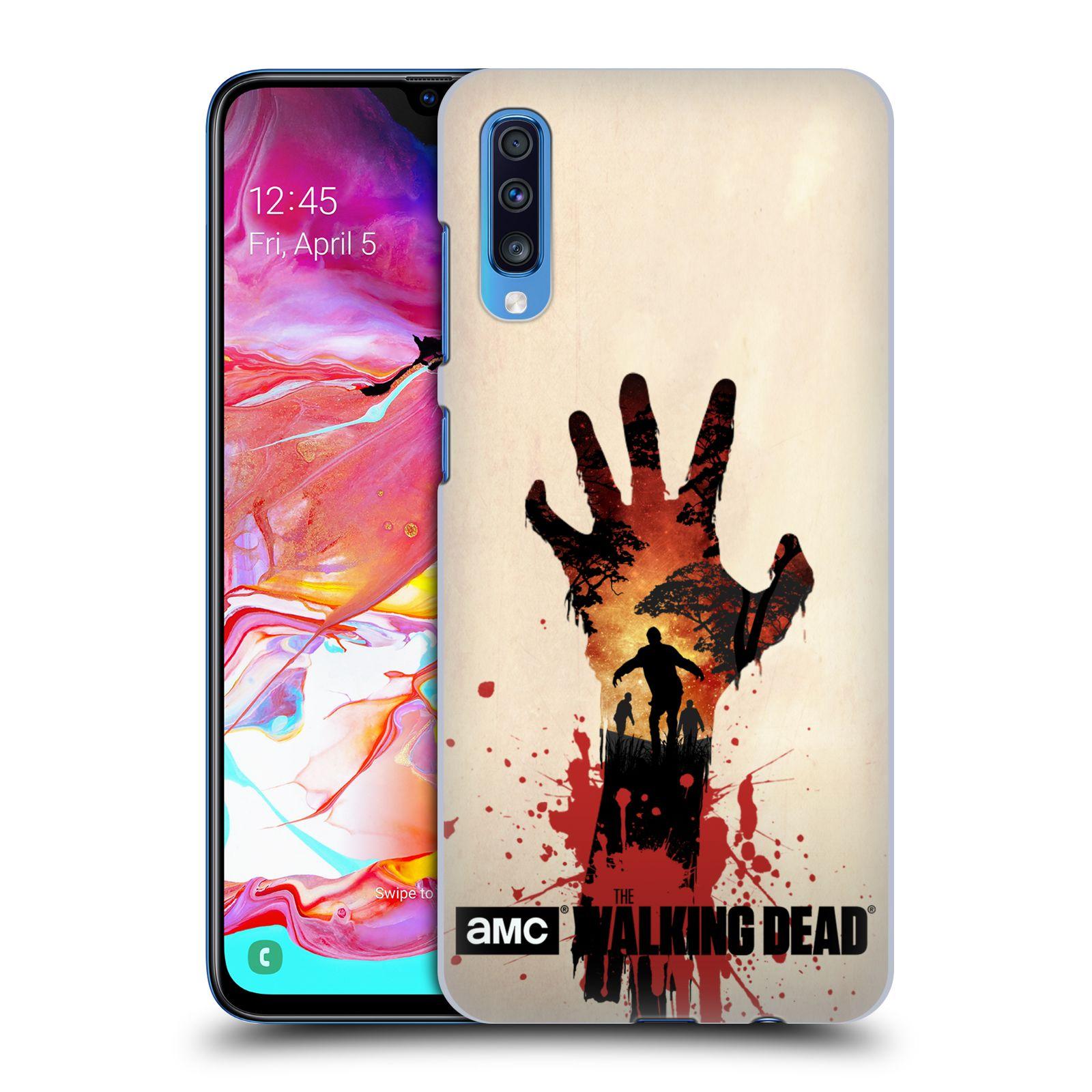Pouzdro na mobil Samsung Galaxy A70 - HEAD CASE - Živí Mrtví silueta ruky