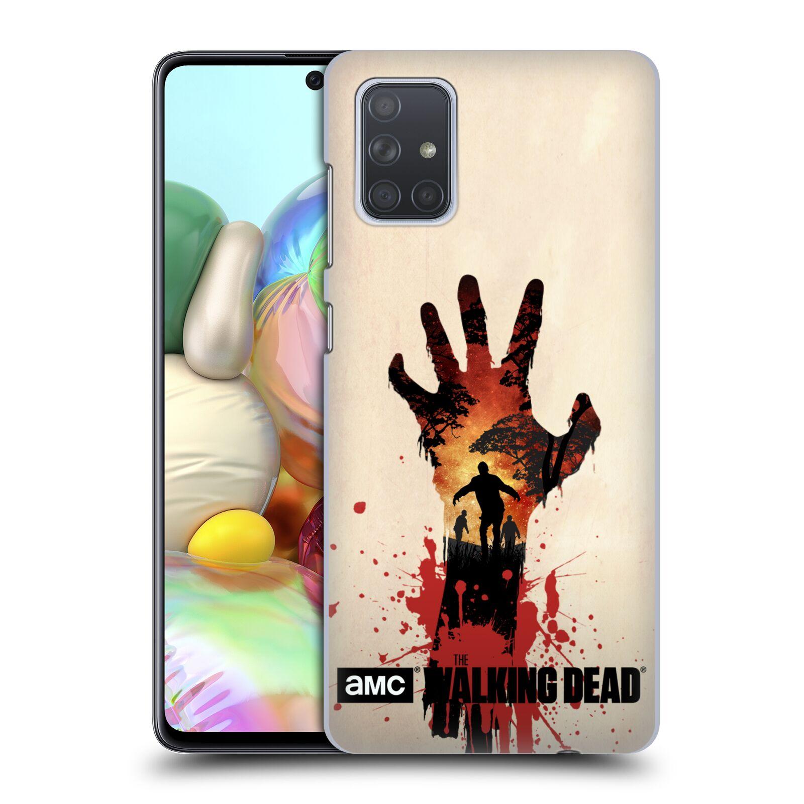 Pouzdro na mobil Samsung Galaxy A71 - HEAD CASE - Živí Mrtví silueta ruky