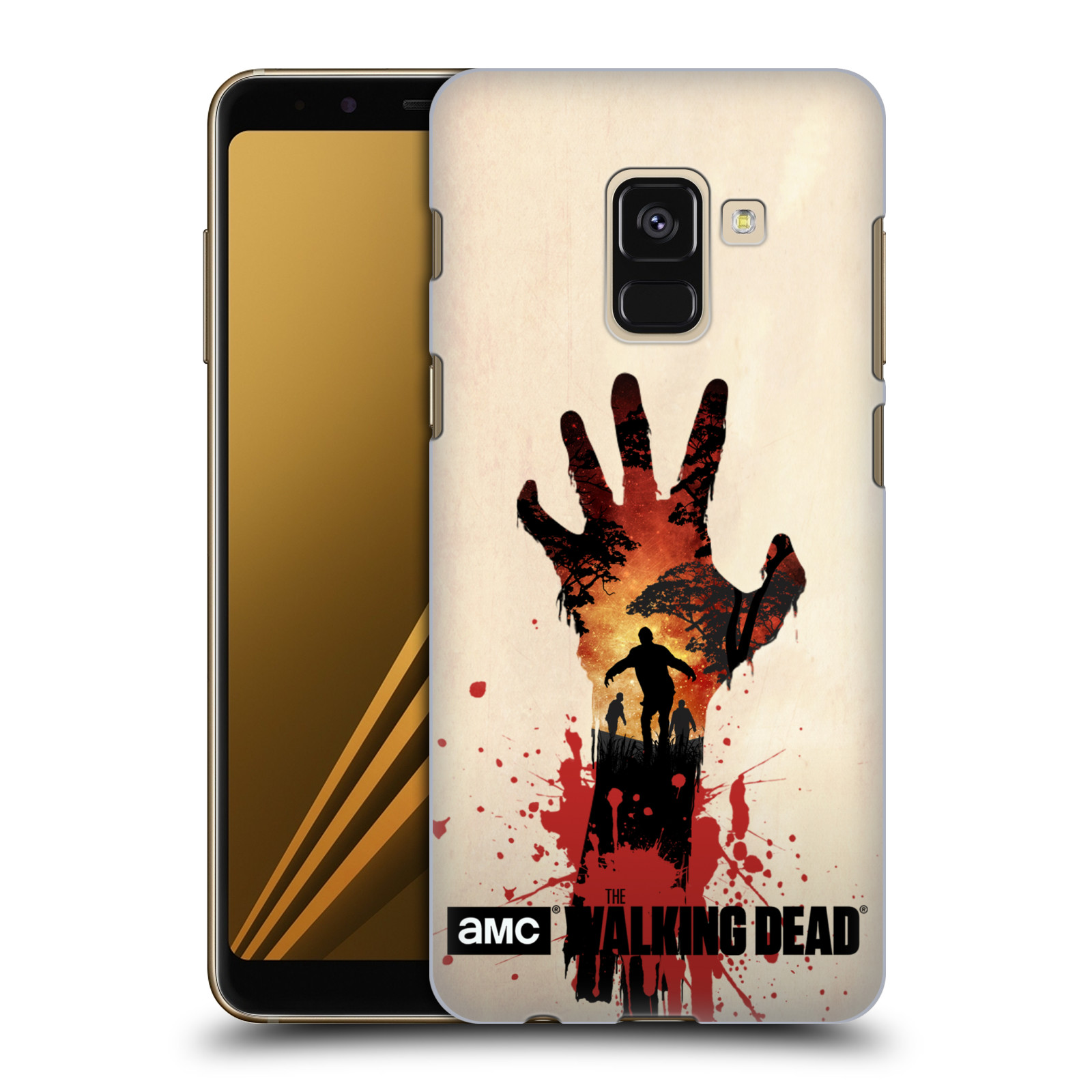 Pouzdro na mobil Samsung Galaxy A8+ 2018, A8 PLUS 2018 - HEAD CASE - Živí Mrtví silueta ruky