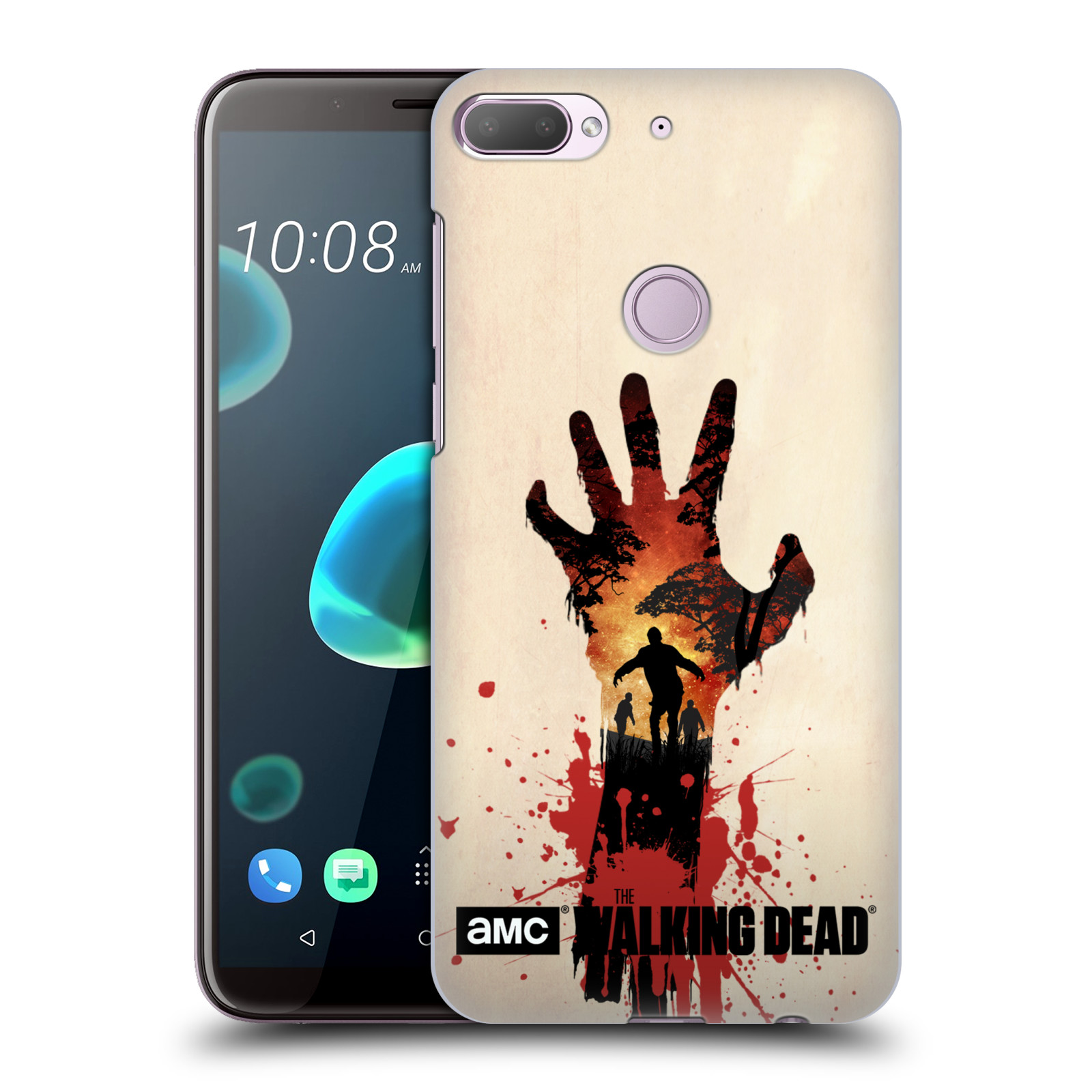 Pouzdro na mobil HTC Desire 12+ / Desire 12+ DUAL SIM - HEAD CASE - Živí Mrtví silueta ruky
