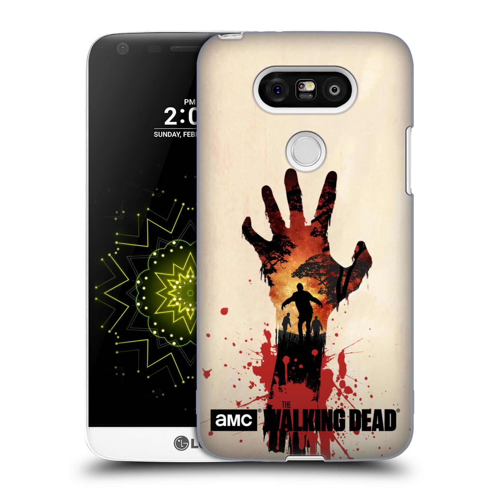Pouzdro na mobil LG G5 - HEAD CASE - Živí Mrtví silueta ruky