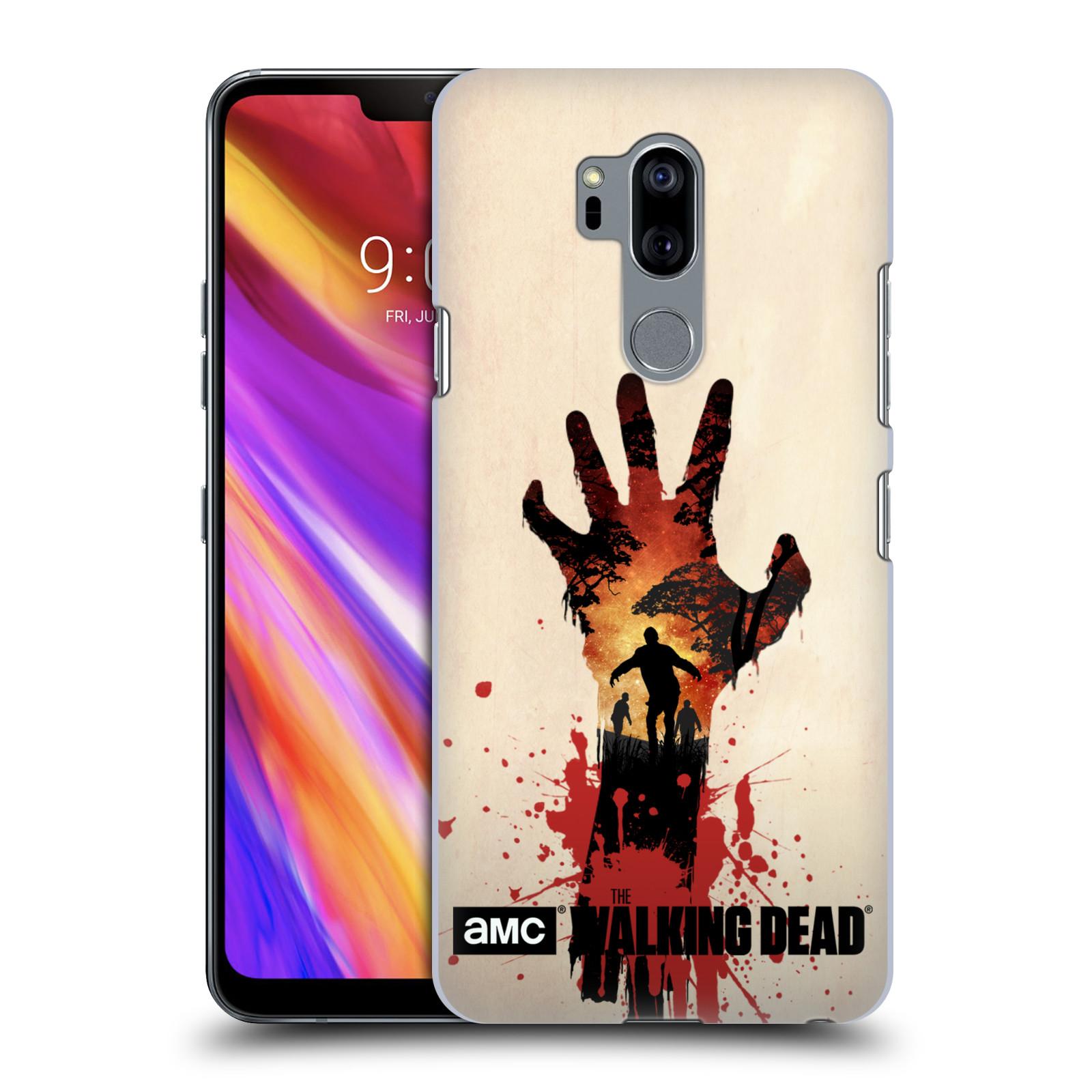 Pouzdro na mobil LG G7  ThinQ - HEAD CASE - Živí Mrtví silueta ruky