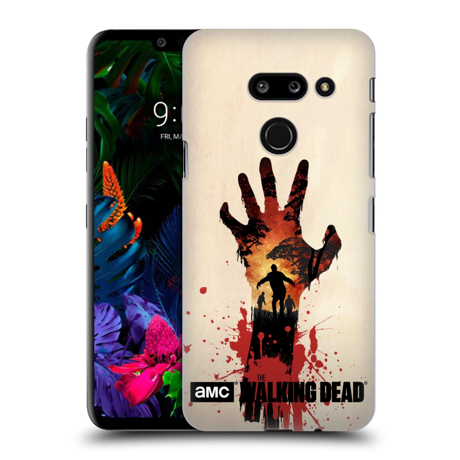 Pouzdro na mobil LG G8 ThinQ - HEAD CASE - Živí Mrtví silueta ruky