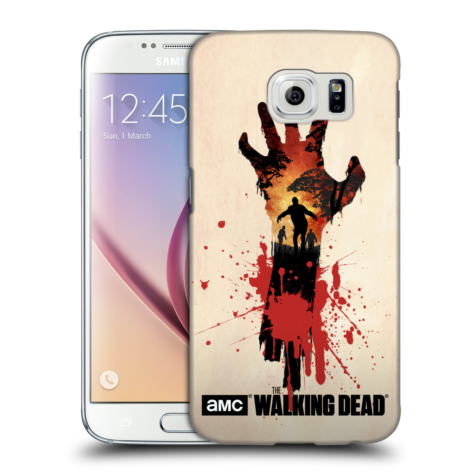 Pouzdro na mobil Samsung Galaxy S6 - HEAD CASE - Živí Mrtví silueta ruky