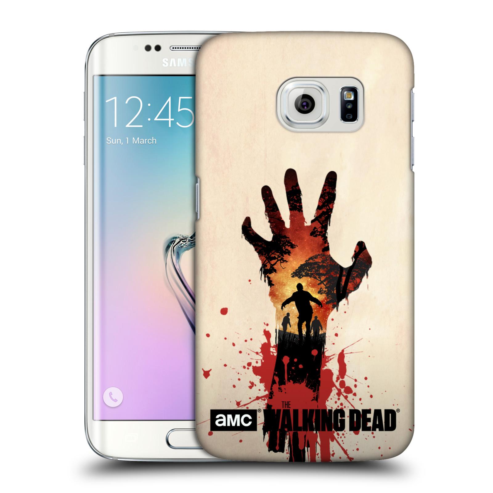 Pouzdro na mobil Samsung Galaxy S6 EDGE - HEAD CASE - Živí Mrtví silueta ruky