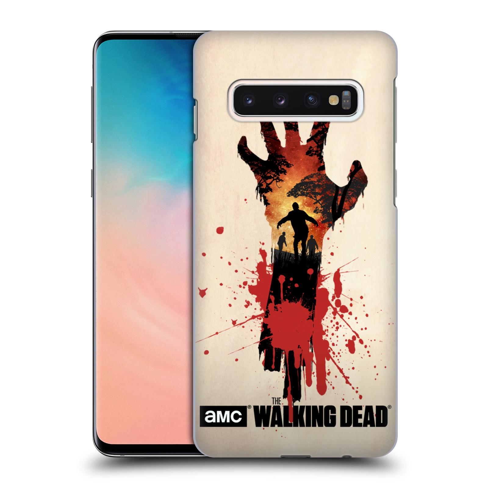 Pouzdro na mobil Samsung Galaxy S10 - HEAD CASE - Živí Mrtví silueta ruky