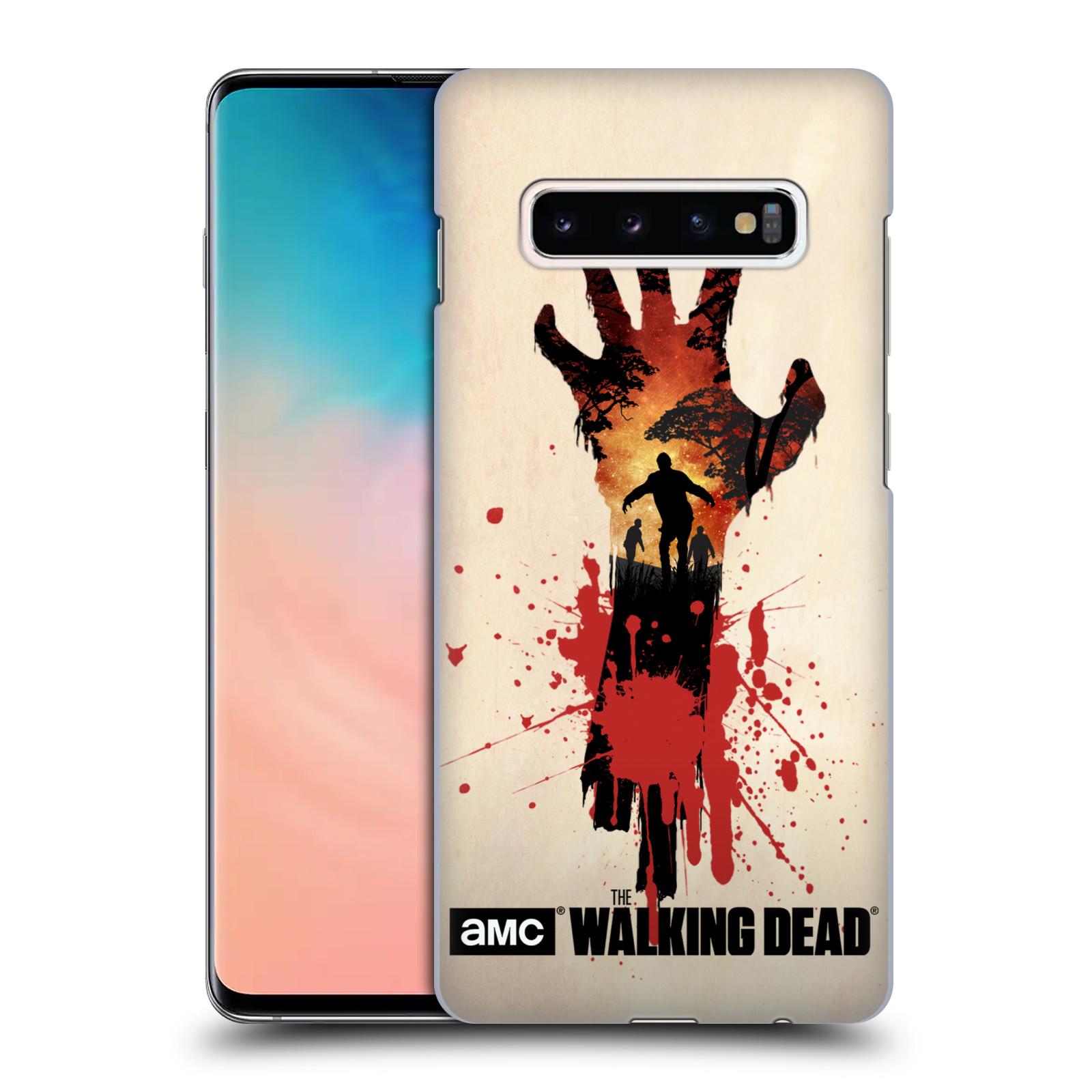 Pouzdro na mobil Samsung Galaxy S10+ - HEAD CASE - Živí Mrtví silueta ruky