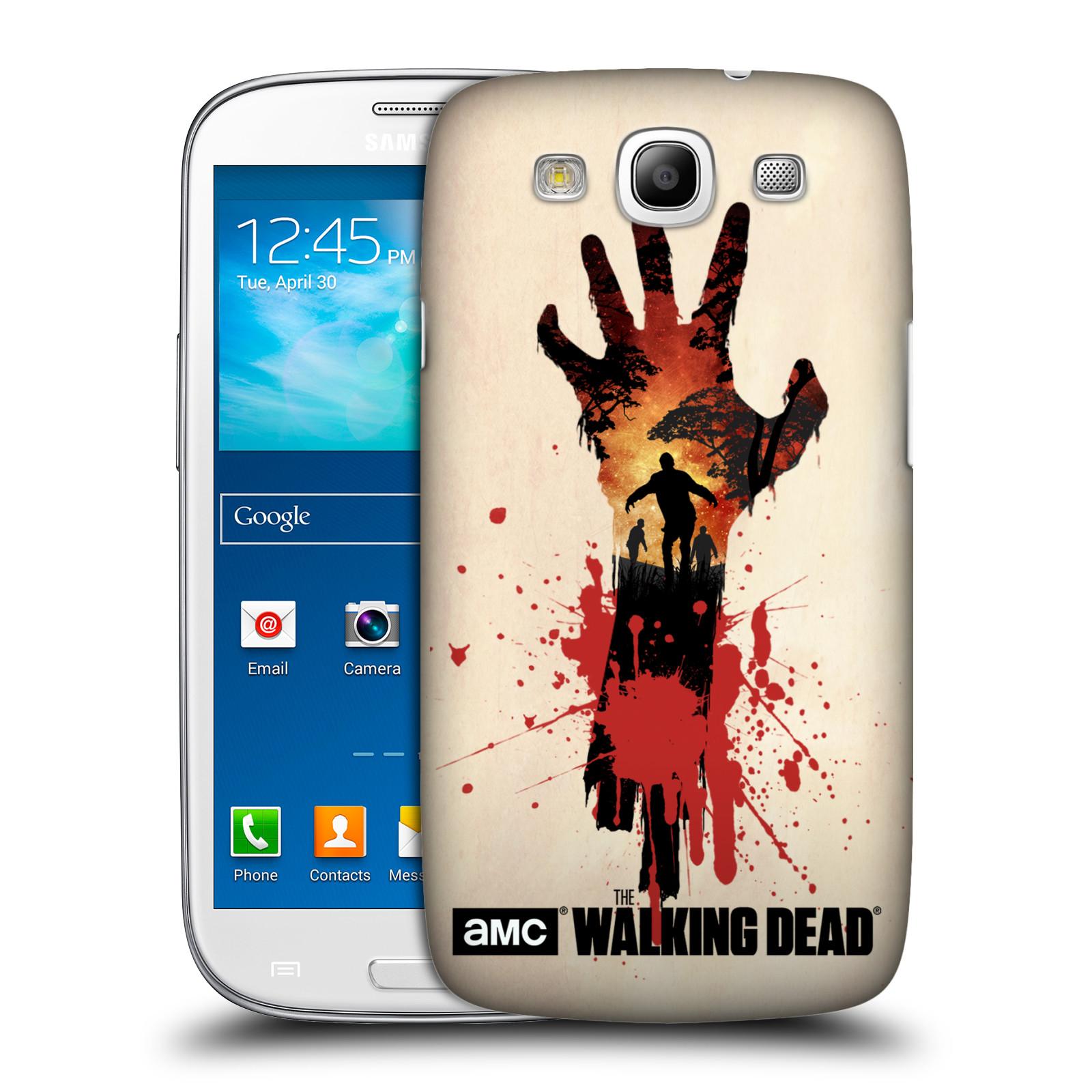 Pouzdro na mobil Samsung Galaxy S3 - HEAD CASE - Živí Mrtví silueta ruky