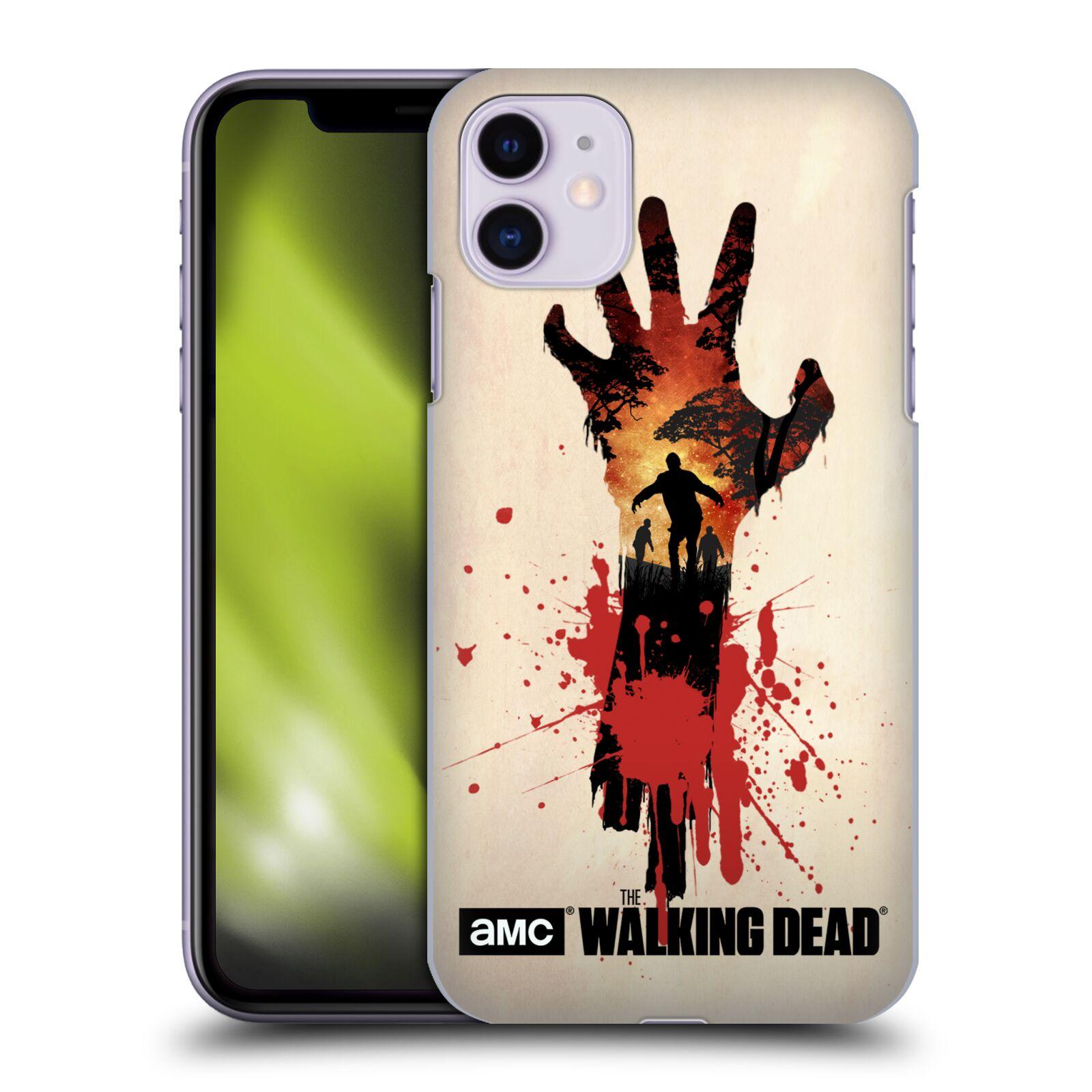 Pouzdro na mobil Apple Iphone 11 - HEAD CASE - Živí Mrtví silueta ruky