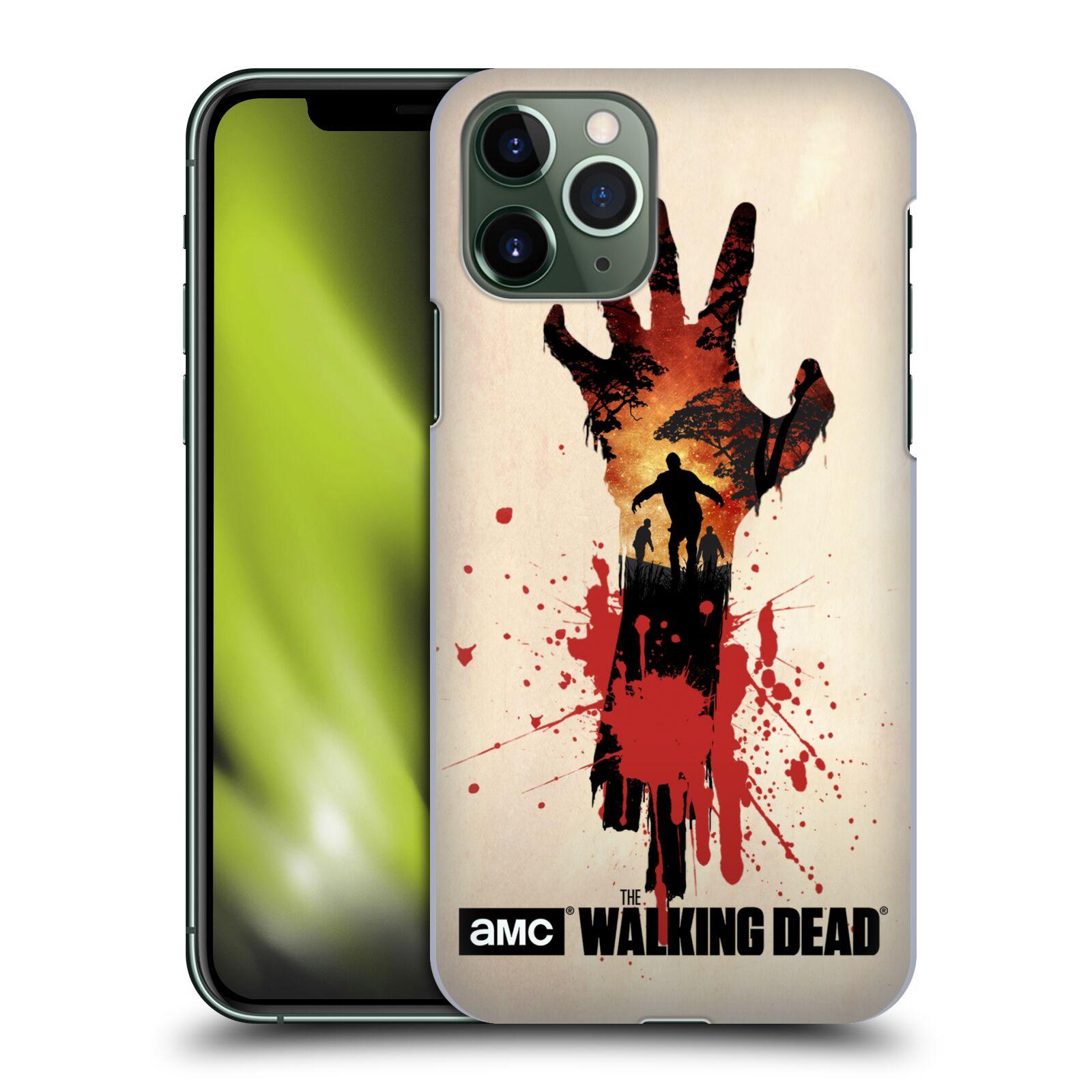 Pouzdro na mobil Apple Iphone 11 PRO - HEAD CASE - Živí Mrtví silueta ruky