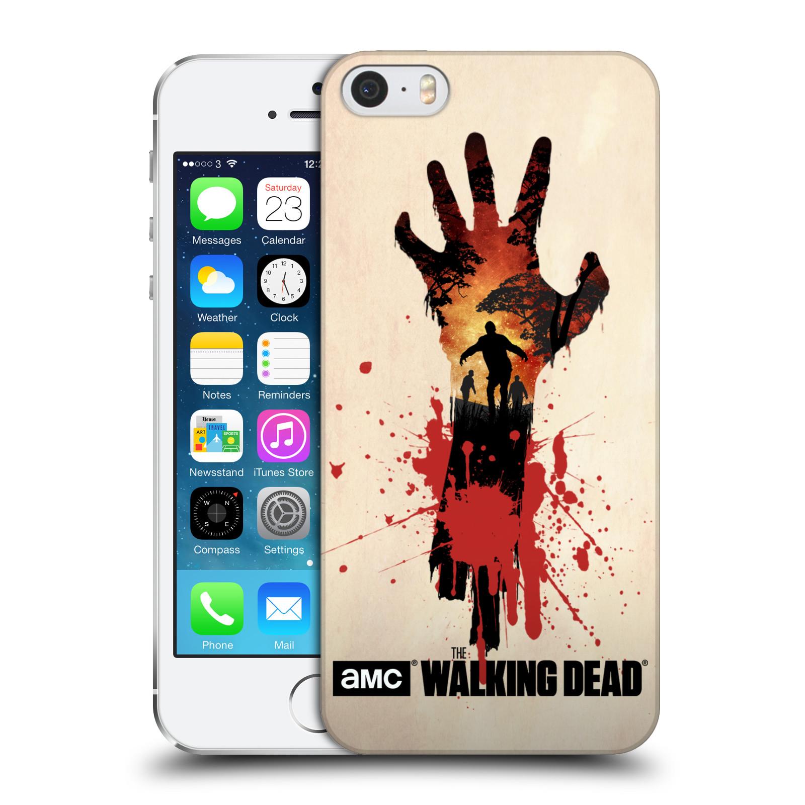 Pouzdro na mobil Apple Iphone 5/5S - HEAD CASE - Živí Mrtví silueta ruky