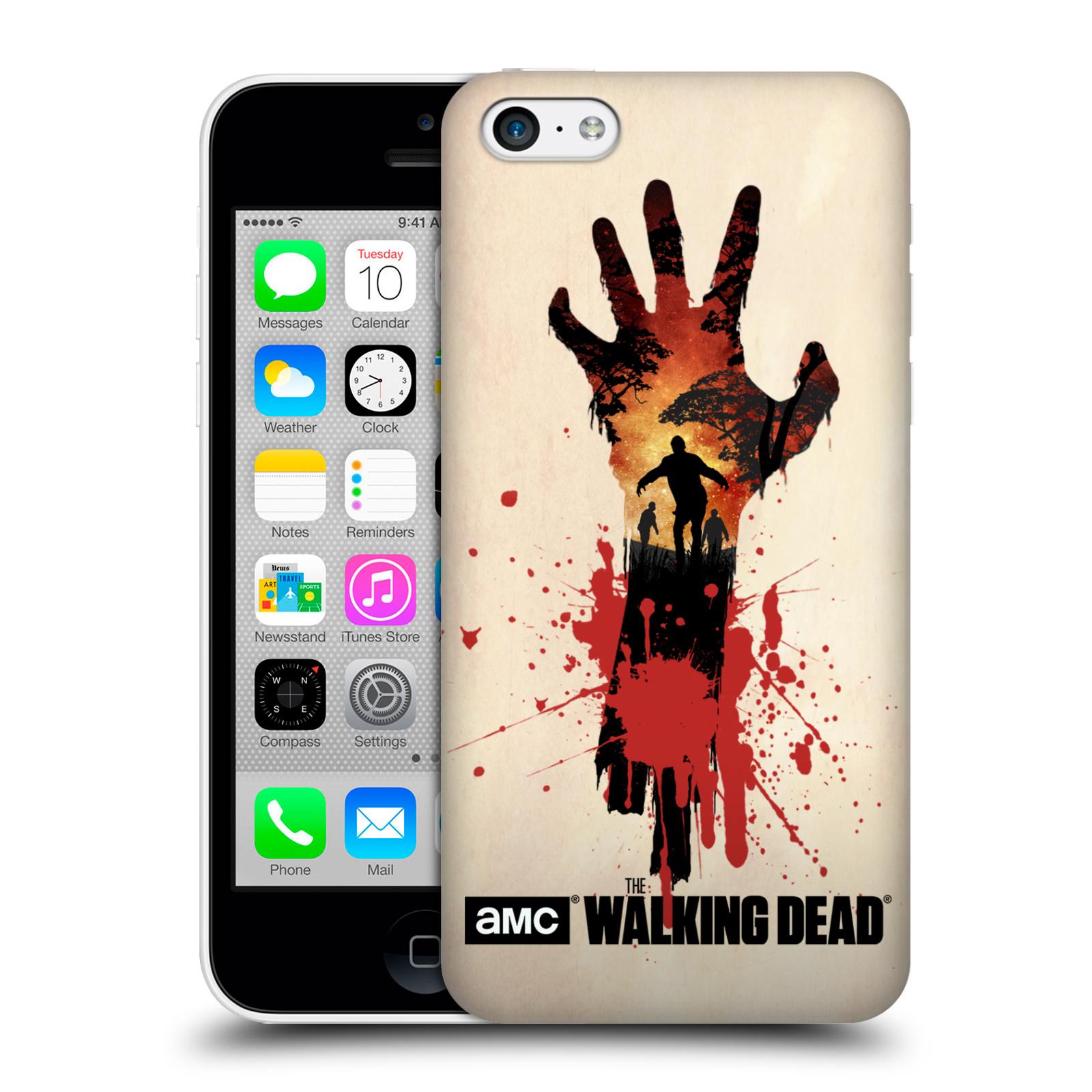 Pouzdro na mobil Apple Iphone 5C - HEAD CASE - Živí Mrtví silueta ruky