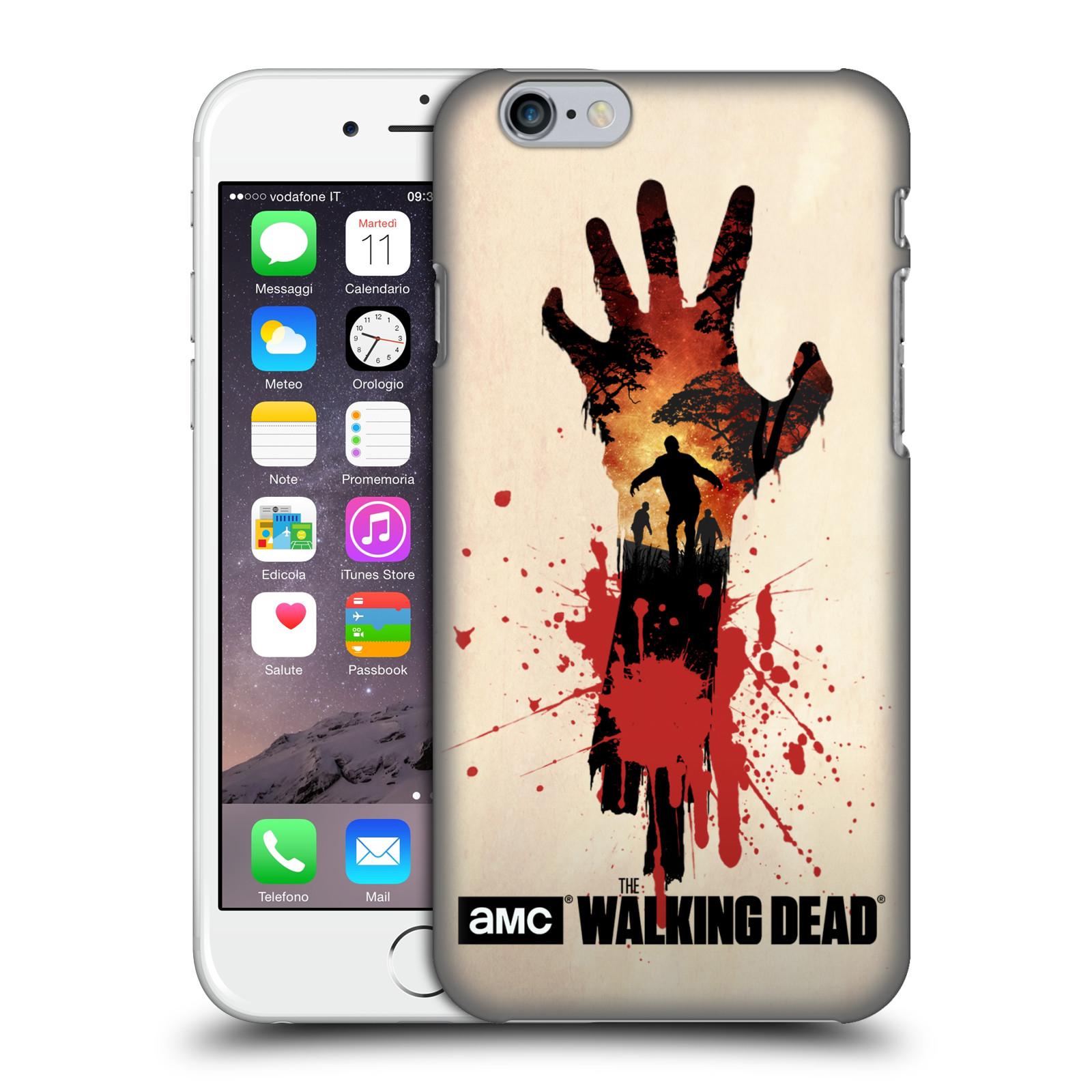 Pouzdro na mobil Apple Iphone 6/6S - HEAD CASE - Živí Mrtví silueta ruky