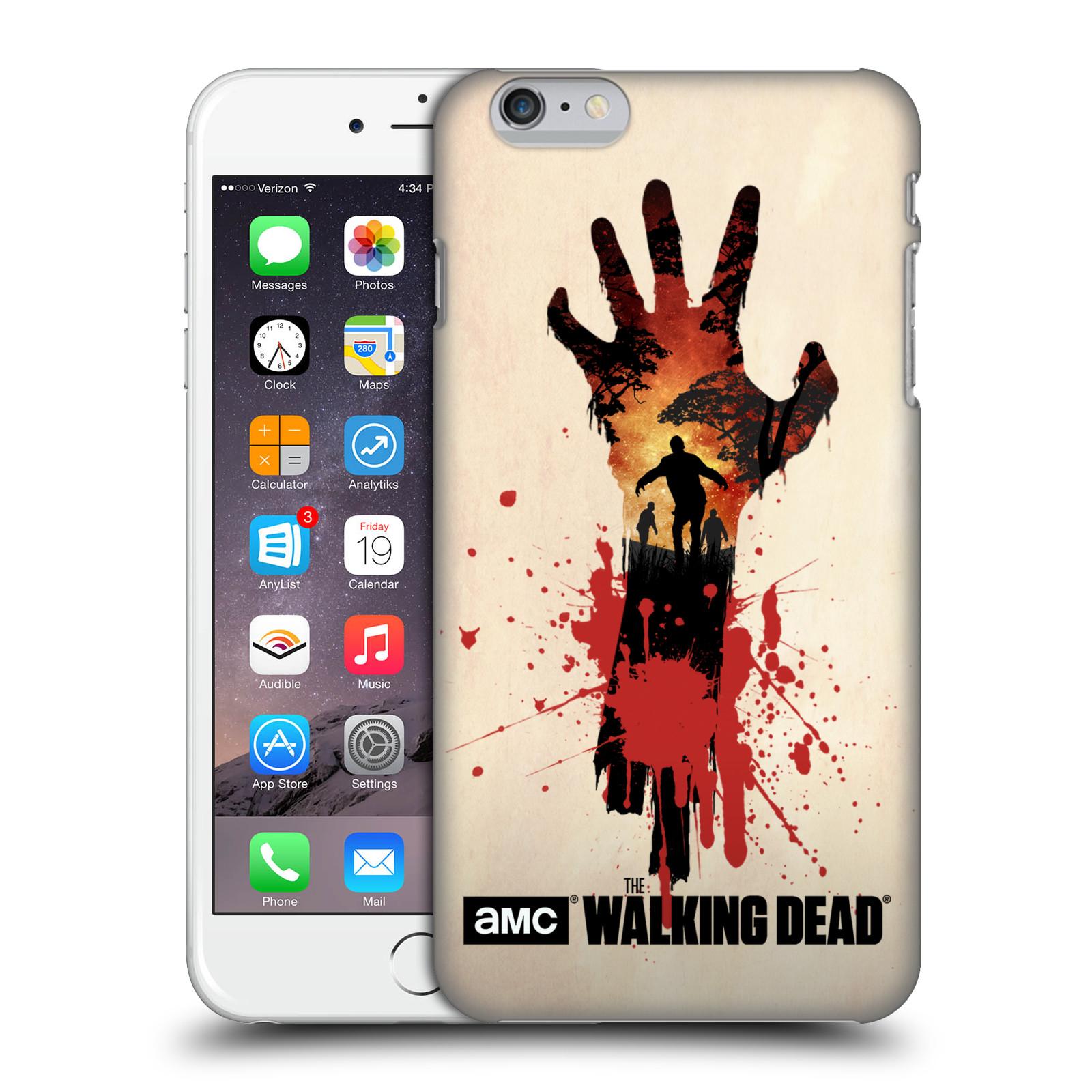 Pouzdro na mobil Apple Iphone 6/6S PLUS - HEAD CASE - Živí Mrtví silueta ruky