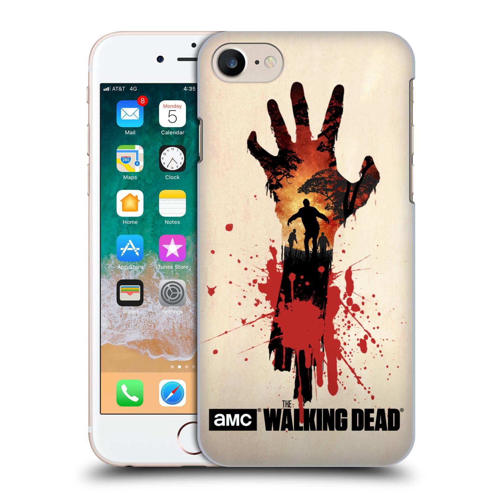 Pouzdro na mobil Apple Iphone 7/8 - HEAD CASE - Živí Mrtví silueta ruky