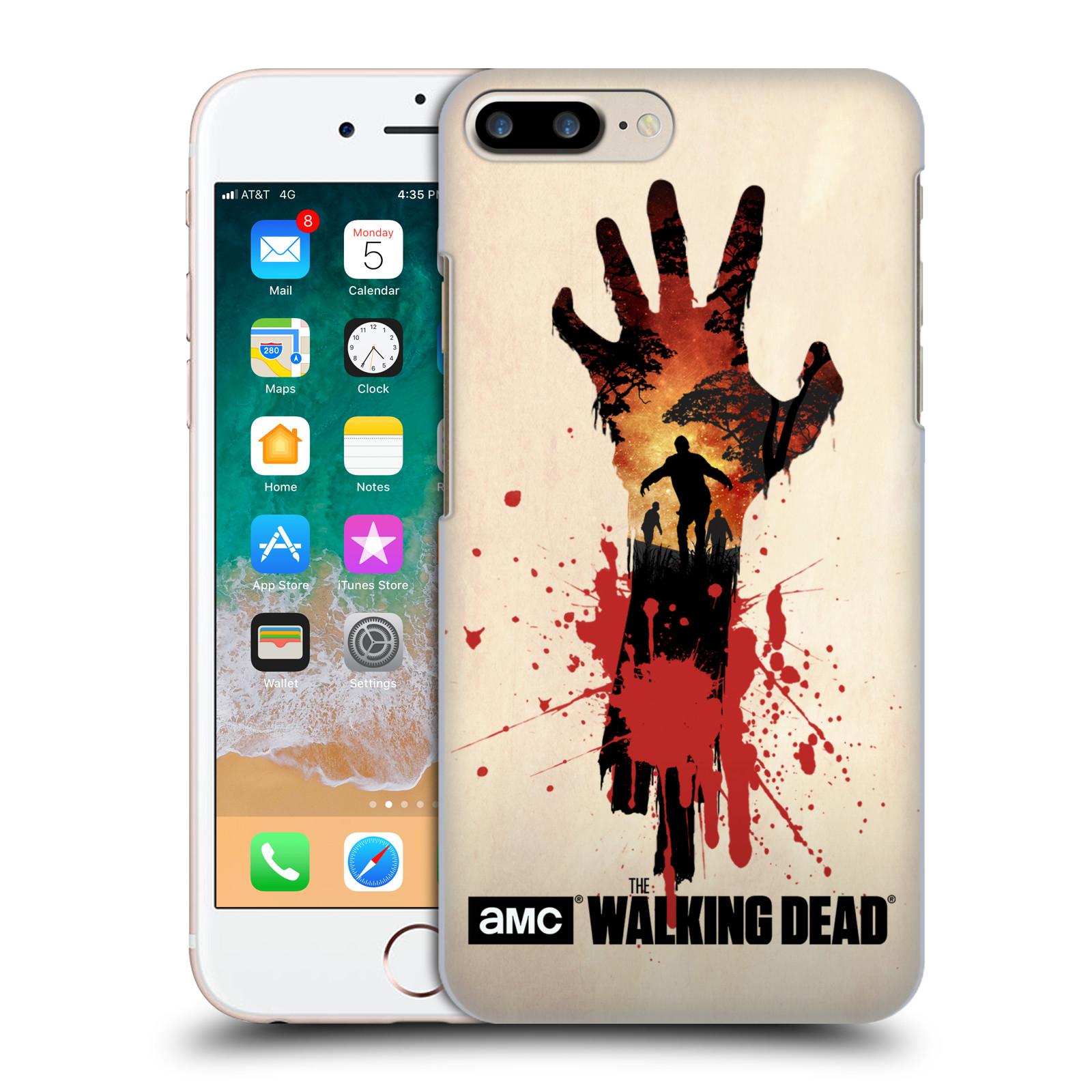 Pouzdro na mobil Apple Iphone 7/8 PLUS - HEAD CASE - Živí Mrtví silueta ruky